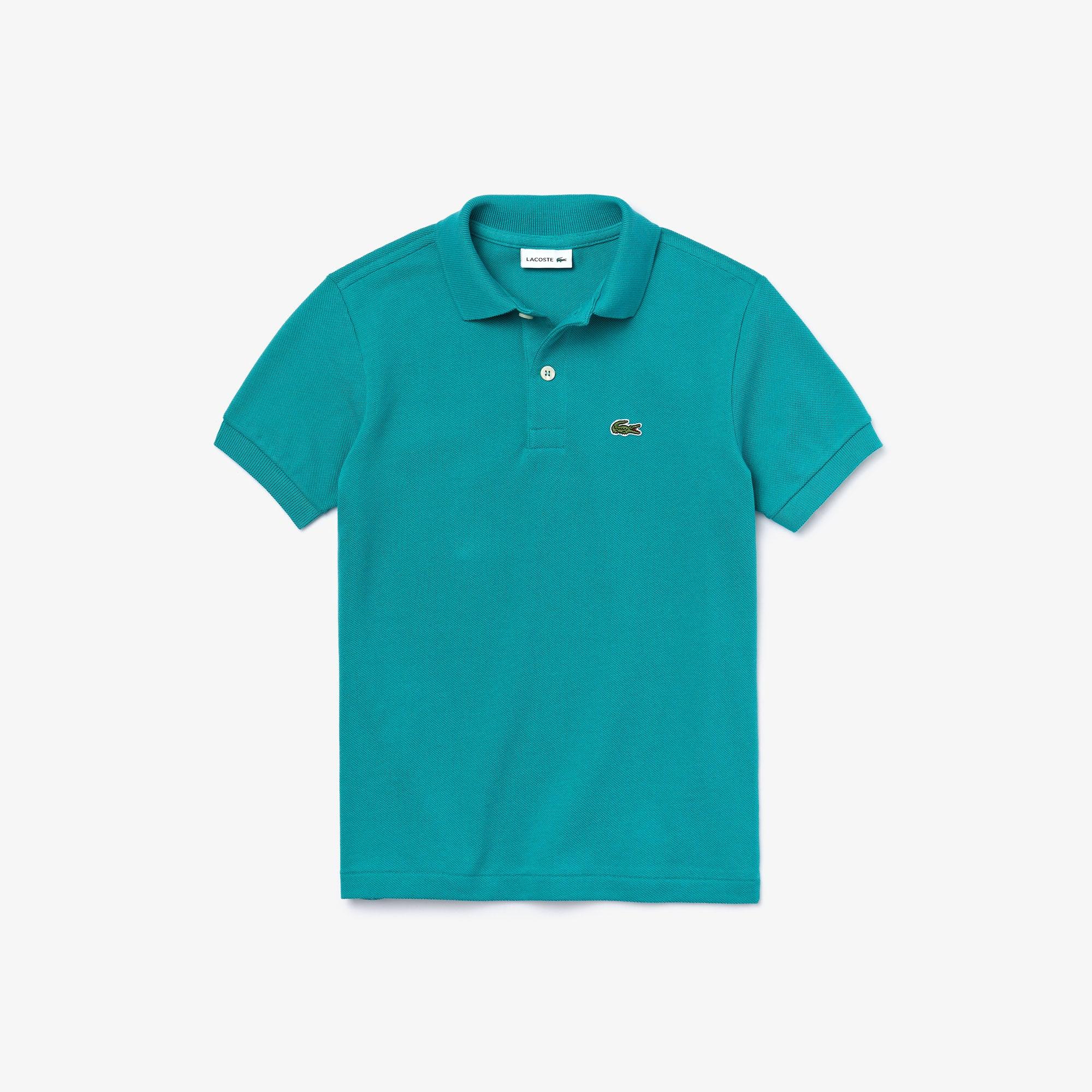 라코스테 보이즈 클래식 피케 폴로셔츠 - 그린(S5J) Lacoste Boys' Classic Pique Polo