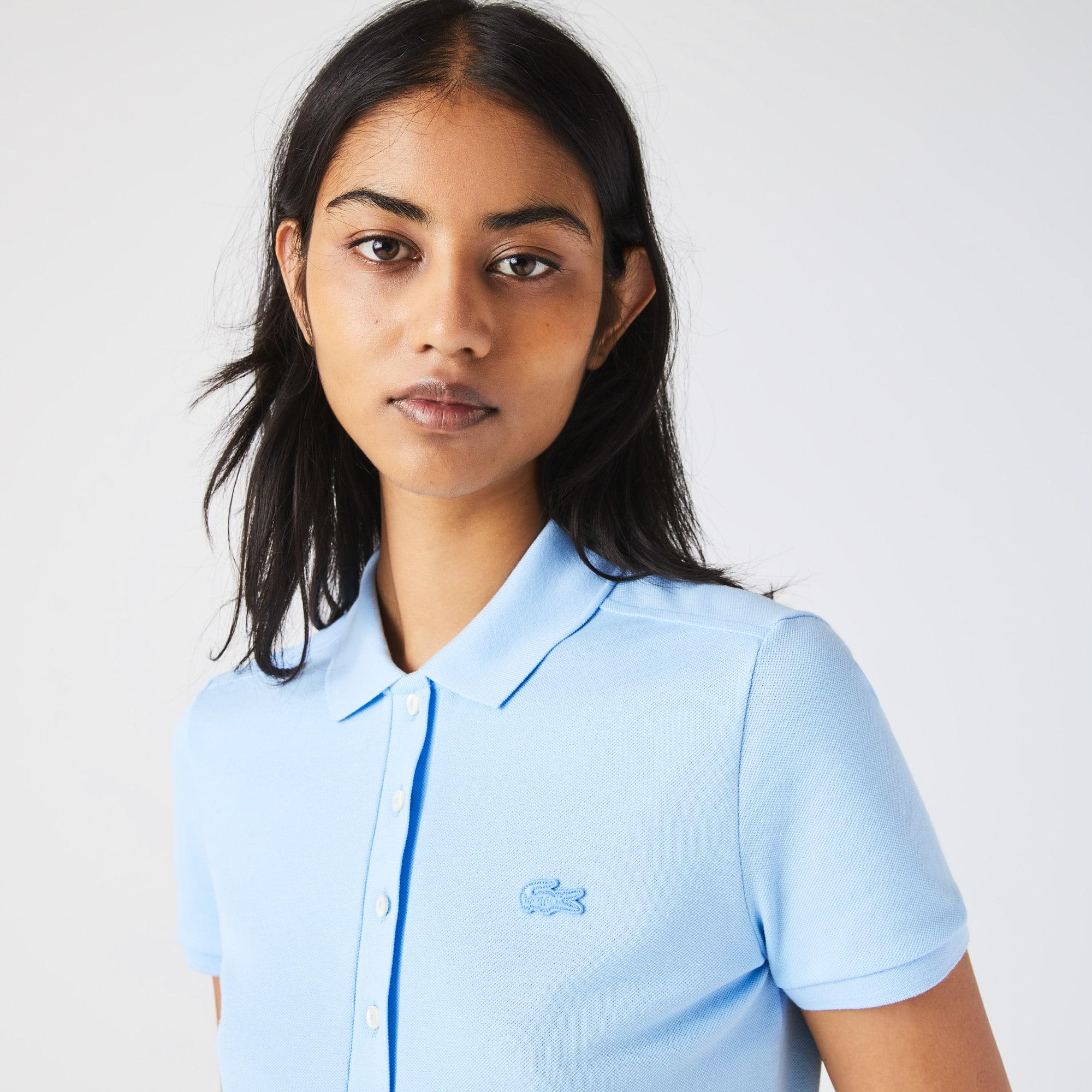 Womens Lacoste Slim fit Stretch Cotton Pique Polo Shirt