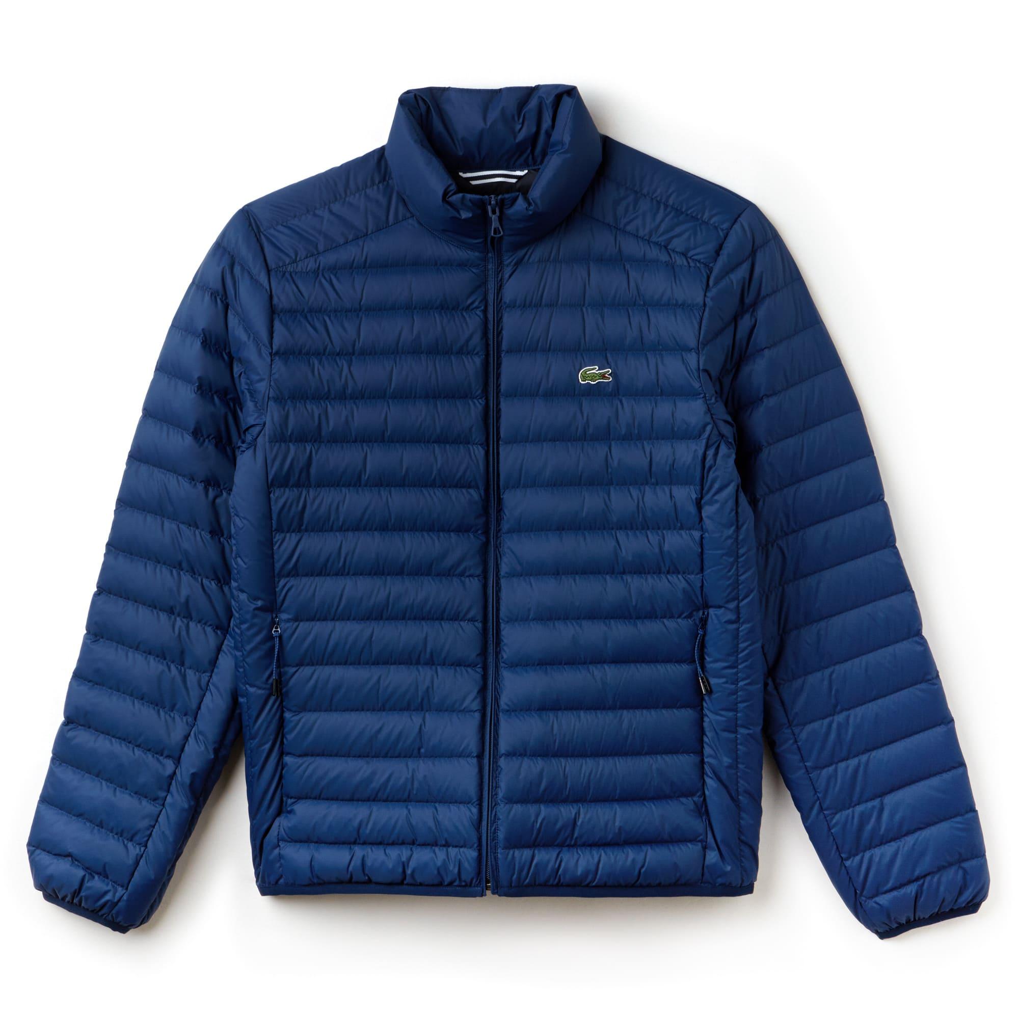 라코스테 초경량 퀼팅 자켓 잉크웰 블루 Lacoste Mens Short Contrast Lining Quilted Jacket, inkwell blue, BH9389-51