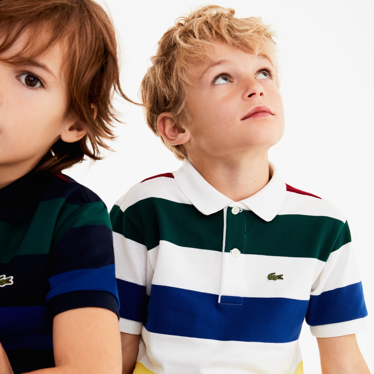 Boys' Colored Stripes Cotton Piqué Polo