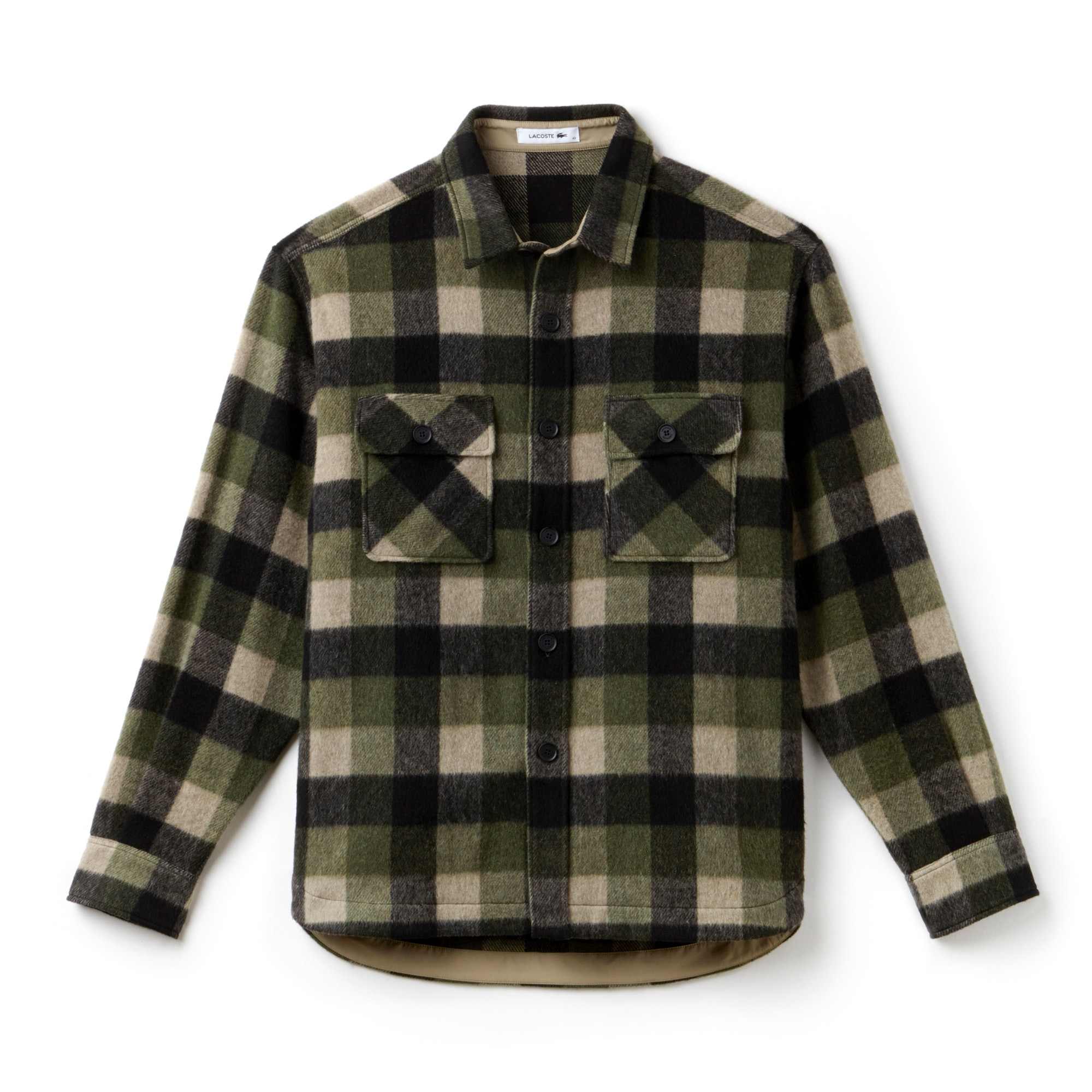 Men's Fashion Show Check Flannel Shirt With Chest Pockets