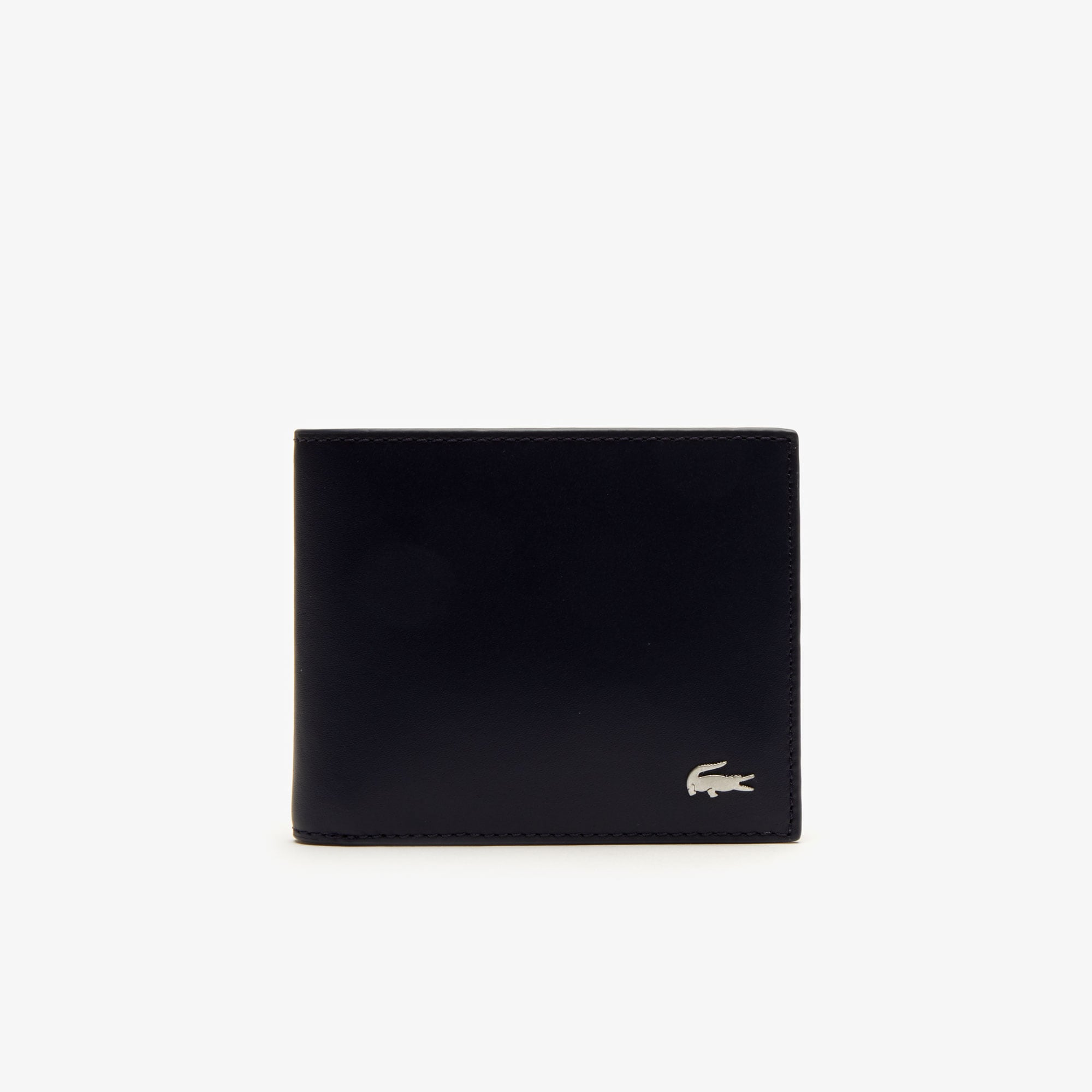 라코스테 Lacoste Mens Fitzgerald Colorblock Leather 6 Card Wallet,peacoat henna marshmallow