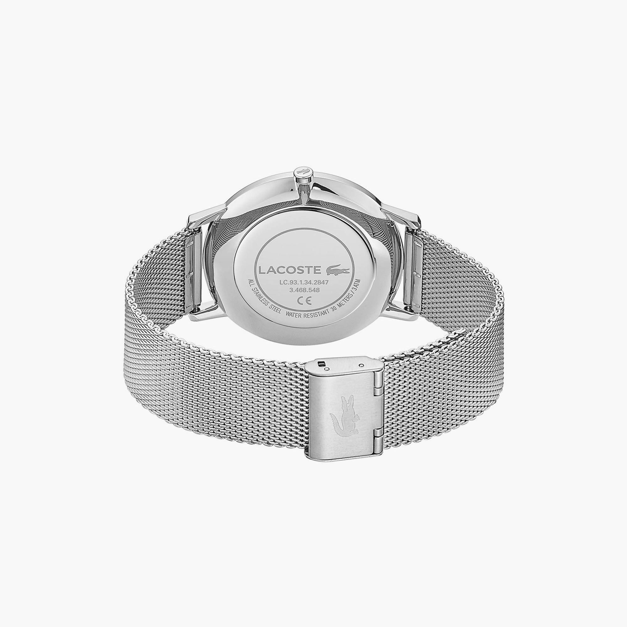 Gents Moon Watch with Stainless Steel Mesh Band Strap and Blue Dial