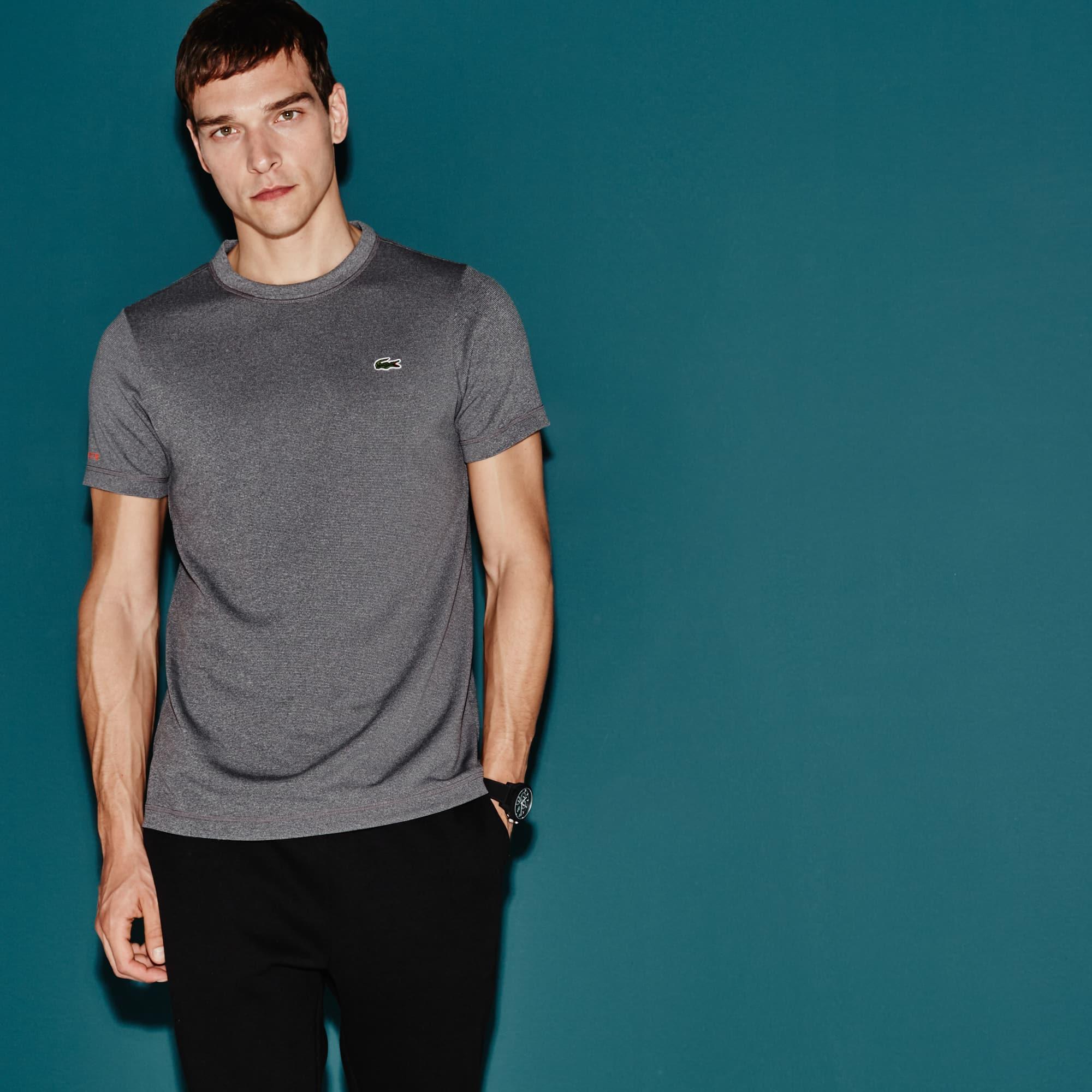 Men's  SPORT Tennis Micro-Striped Jersey T-shirt