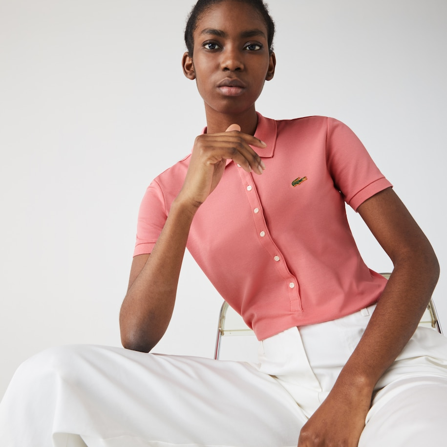 Women's Lacoste LIVE Slim Fit Stretch Cotton Piqué Polo Shirt
