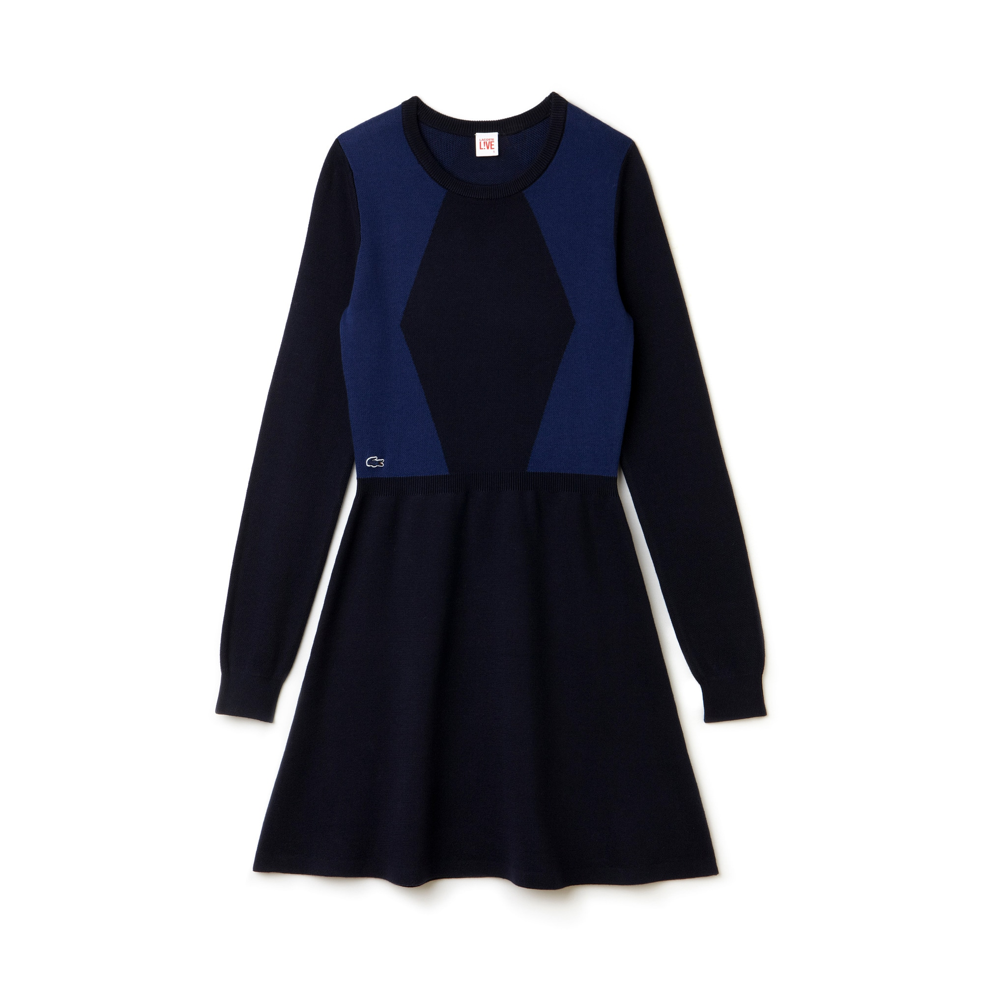 Women's L!VE Color Block Fit and Flare Dress