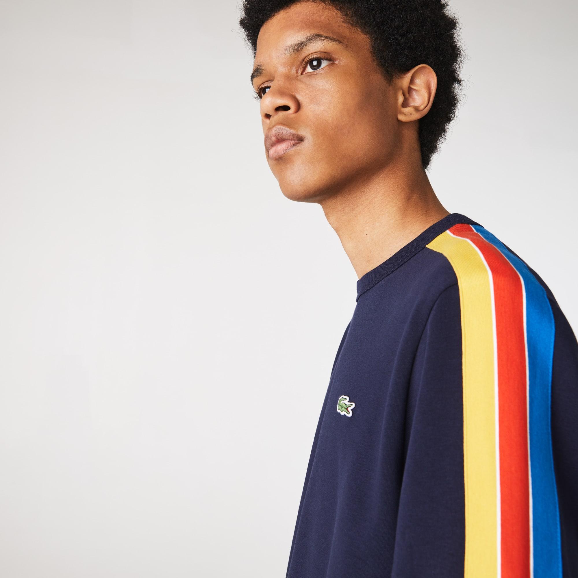 라코스테 스포츠 배색 밴드 플리스 맨투맨 Lacoste Mens SPORT Contrast Bands Fleece Sweatshirt