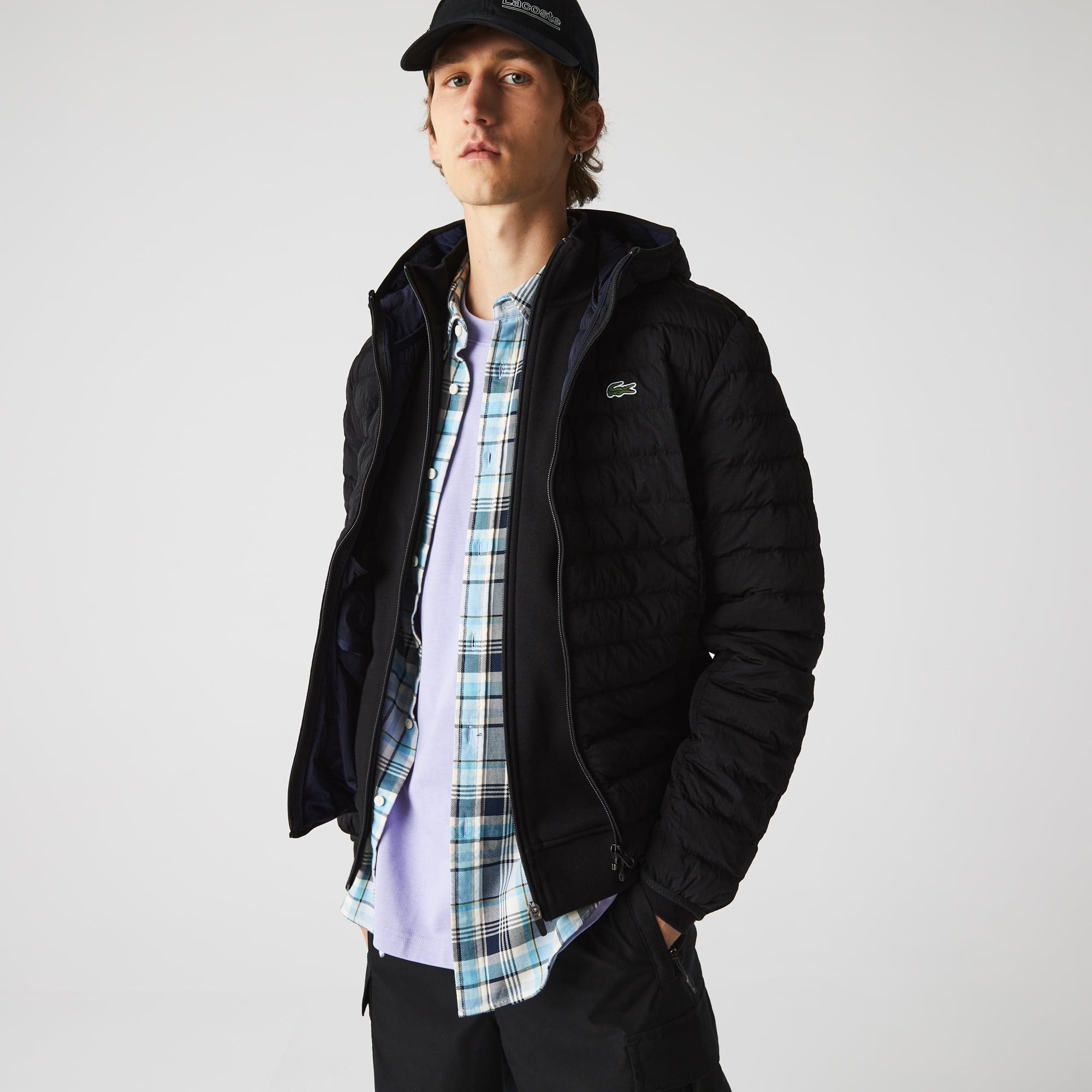 라코스테 맨 경량 후드 숏패딩 Lacoste Mens Lightweight Foldable Hooded Water-Resistant Puffer Coat