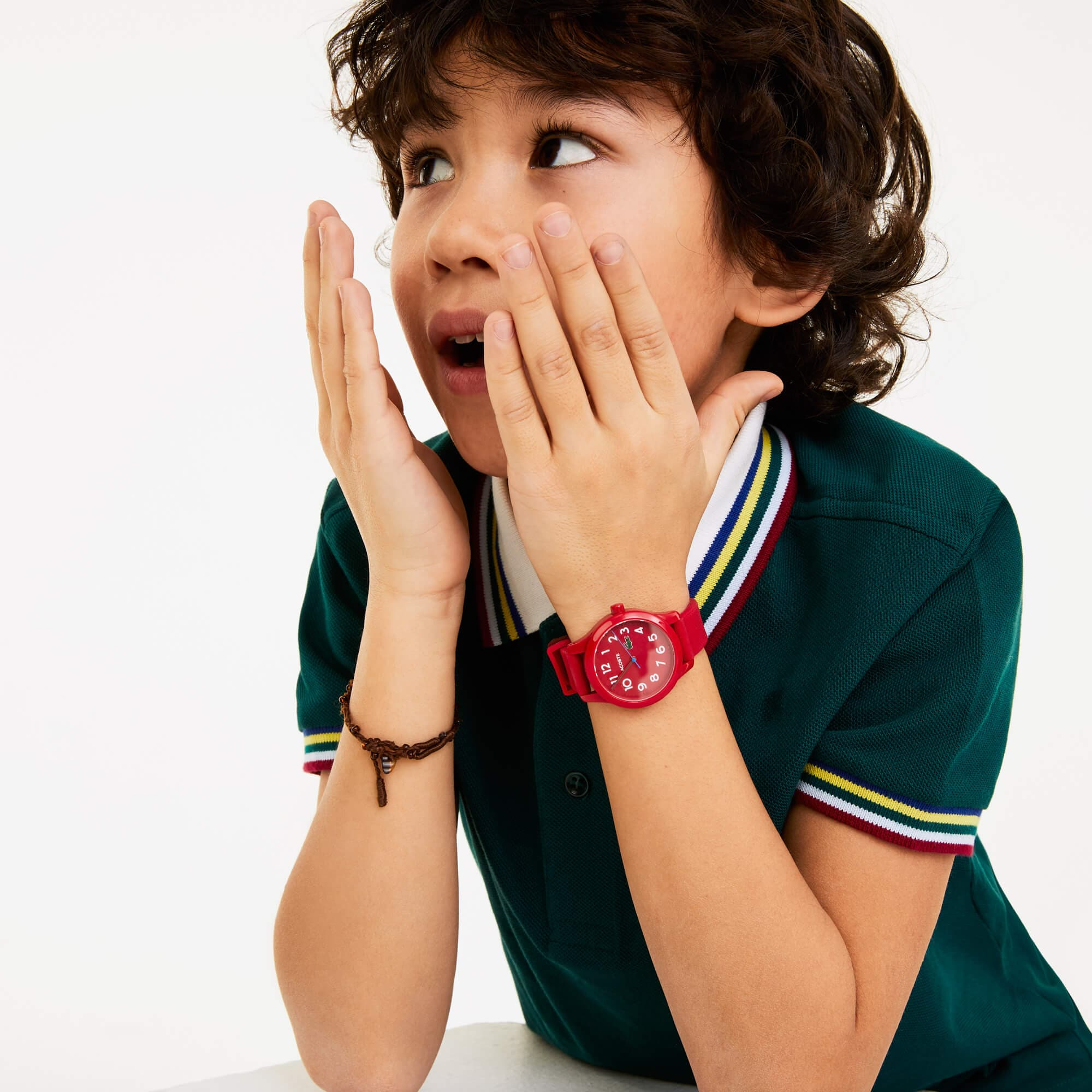 Kid's Lacoste 12.12 Watch with Red Silicone Strap
