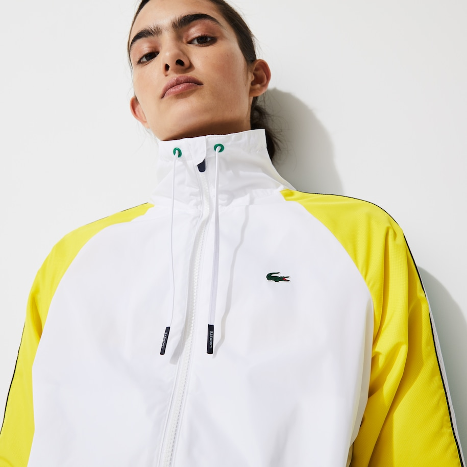 Women's Lacoste SPORT Water-Resistant Zip Tennis Jacket