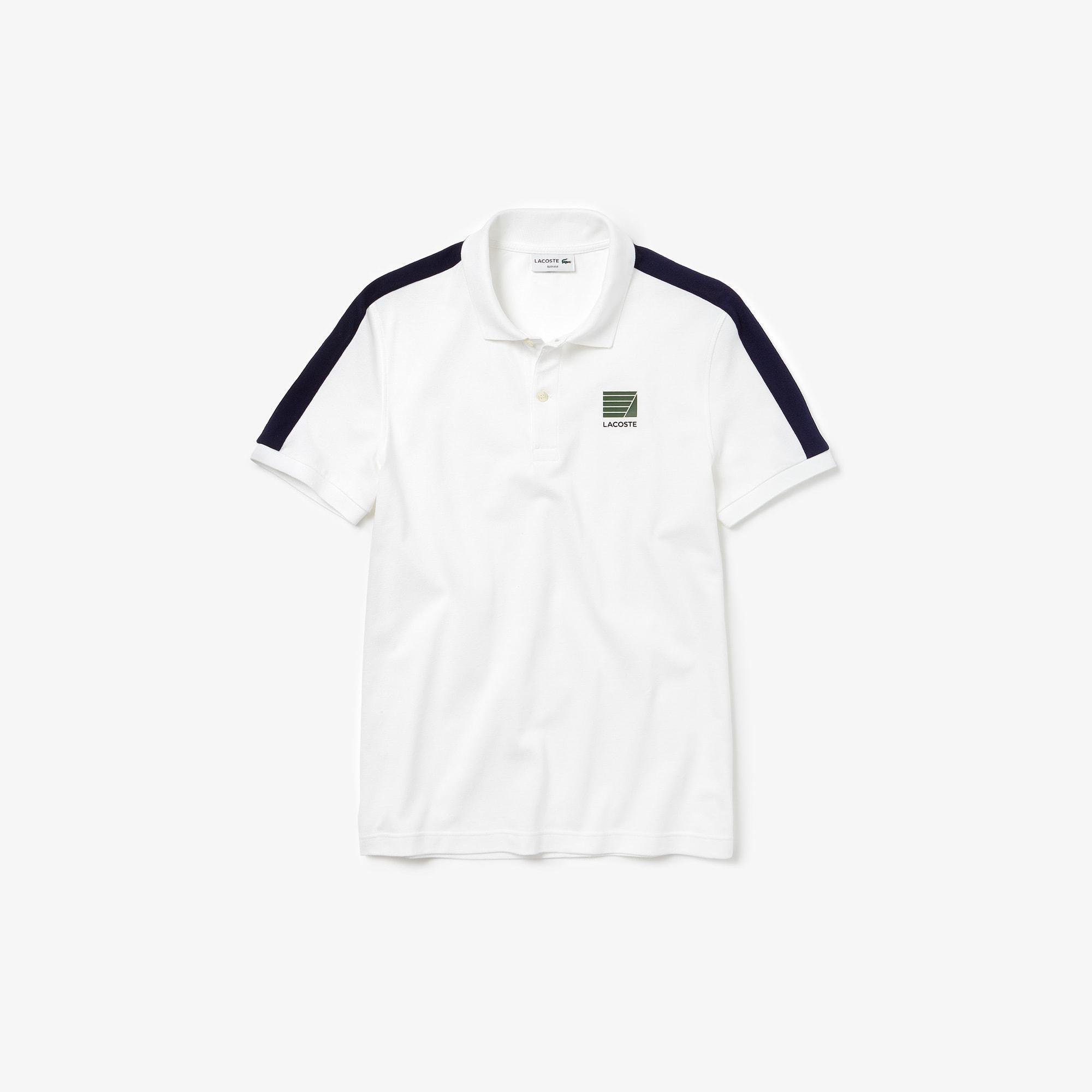 Men's Slim Fit Cotton Mini Piqué Polo