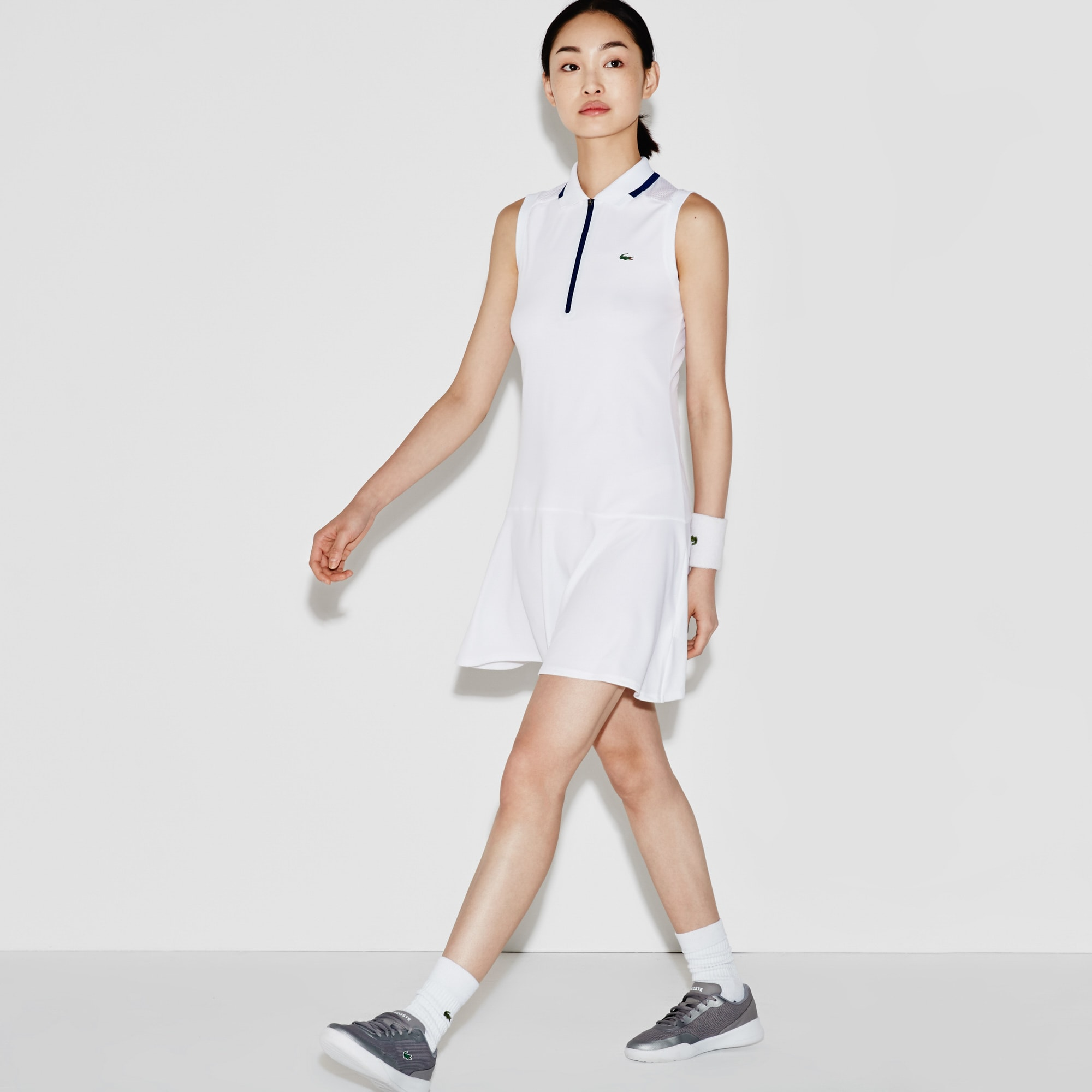 Women's SPORT Tennis Technical Piqué & Mesh Flared Dress