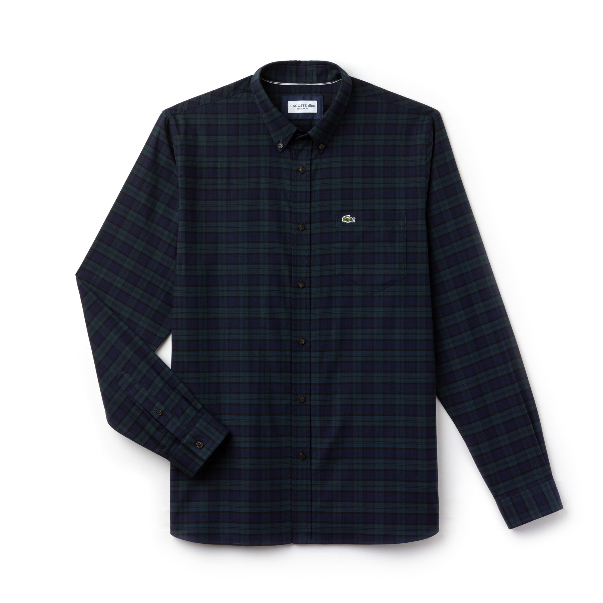 Men's Motion Regular Fit Check Cotton Twill Shirt