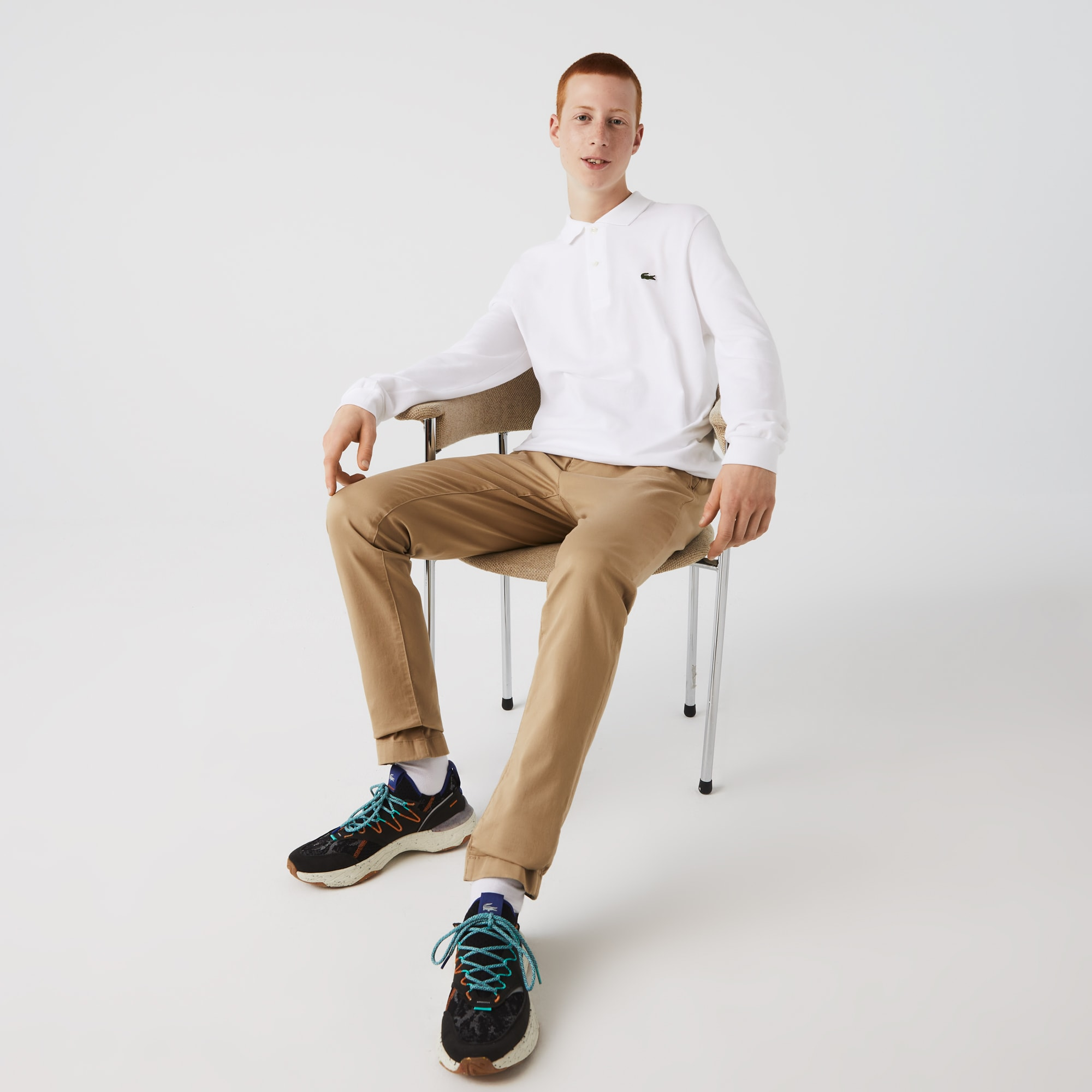 라코스테 맨 L.12.12 긴팔 폴로 셔츠 Lacoste Long-sleeve Classic Fit L.12.12 Polo Shirt