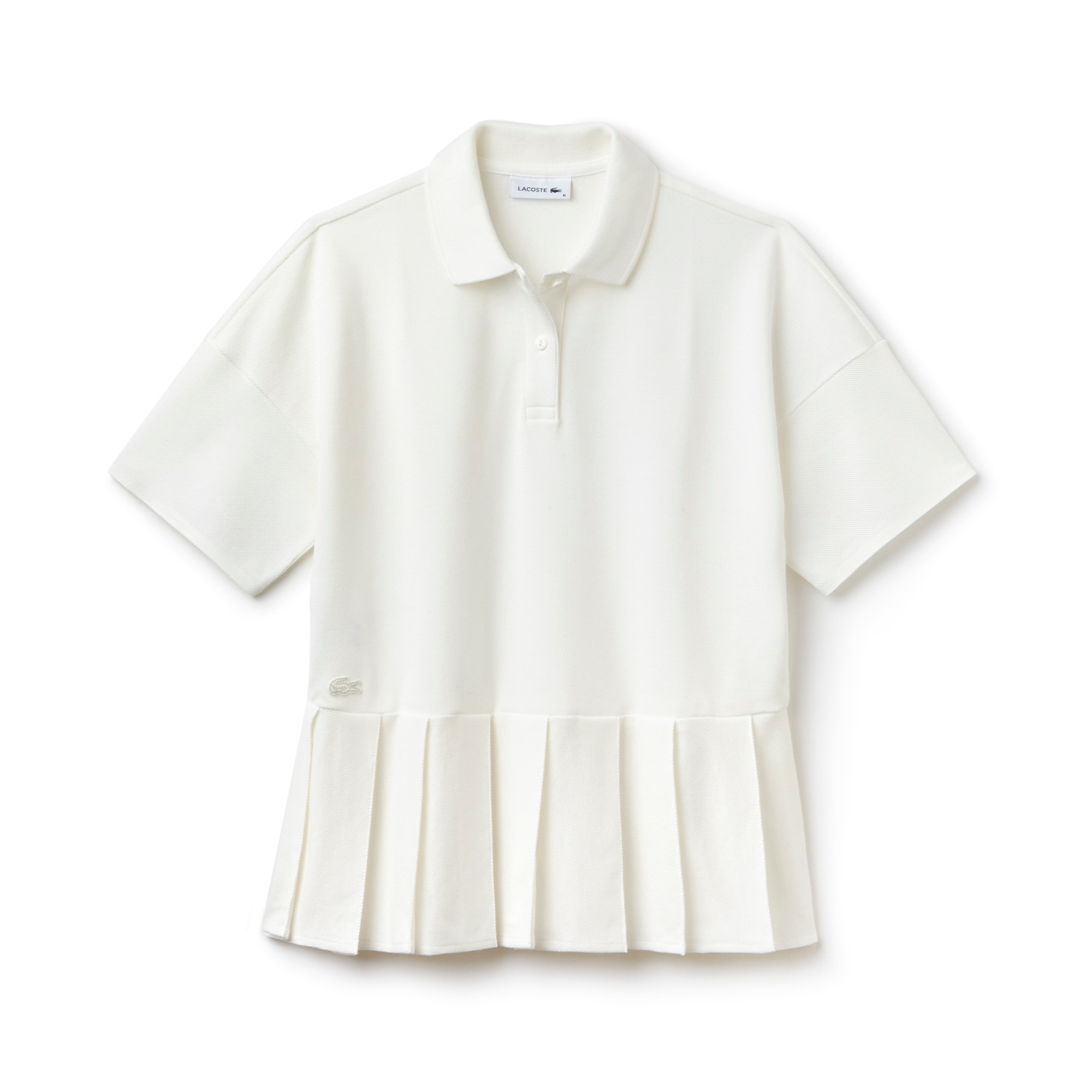 Women's Lacoste Pleated Thick Cotton Piqué Polo