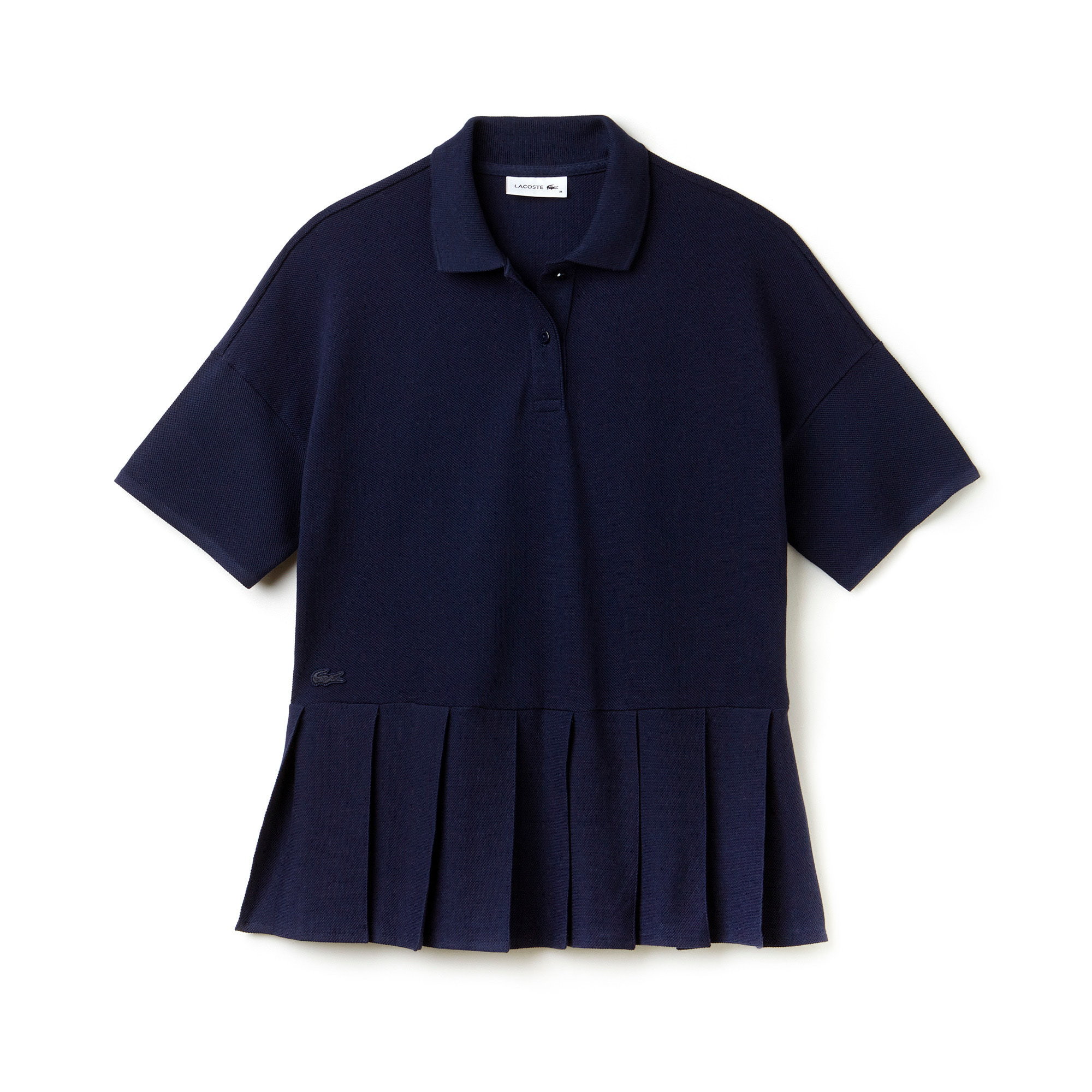 Women's Pleated Thick Cotton Piqué Polo