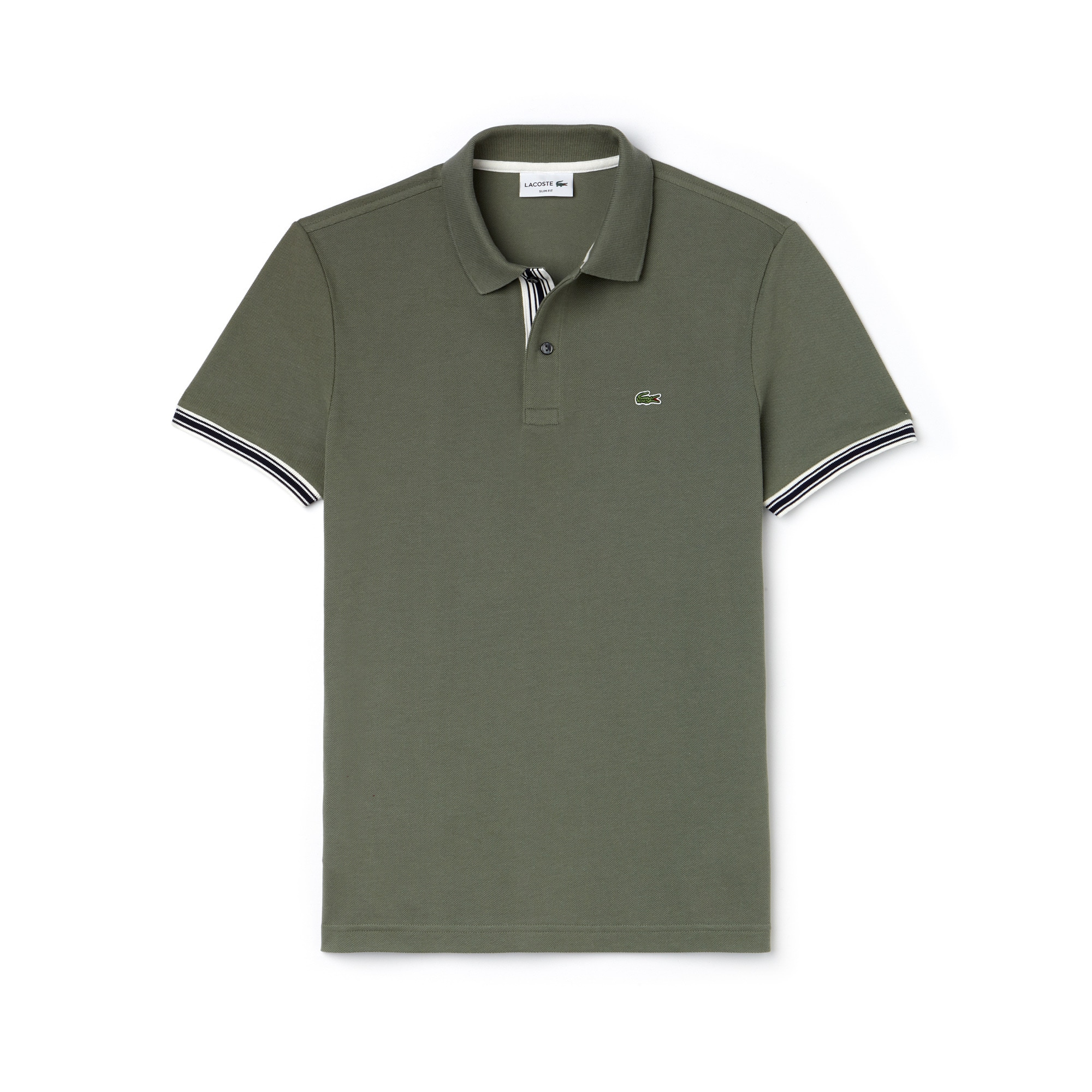 Men's Slim Fit Piped Sleeves Piqué Polo