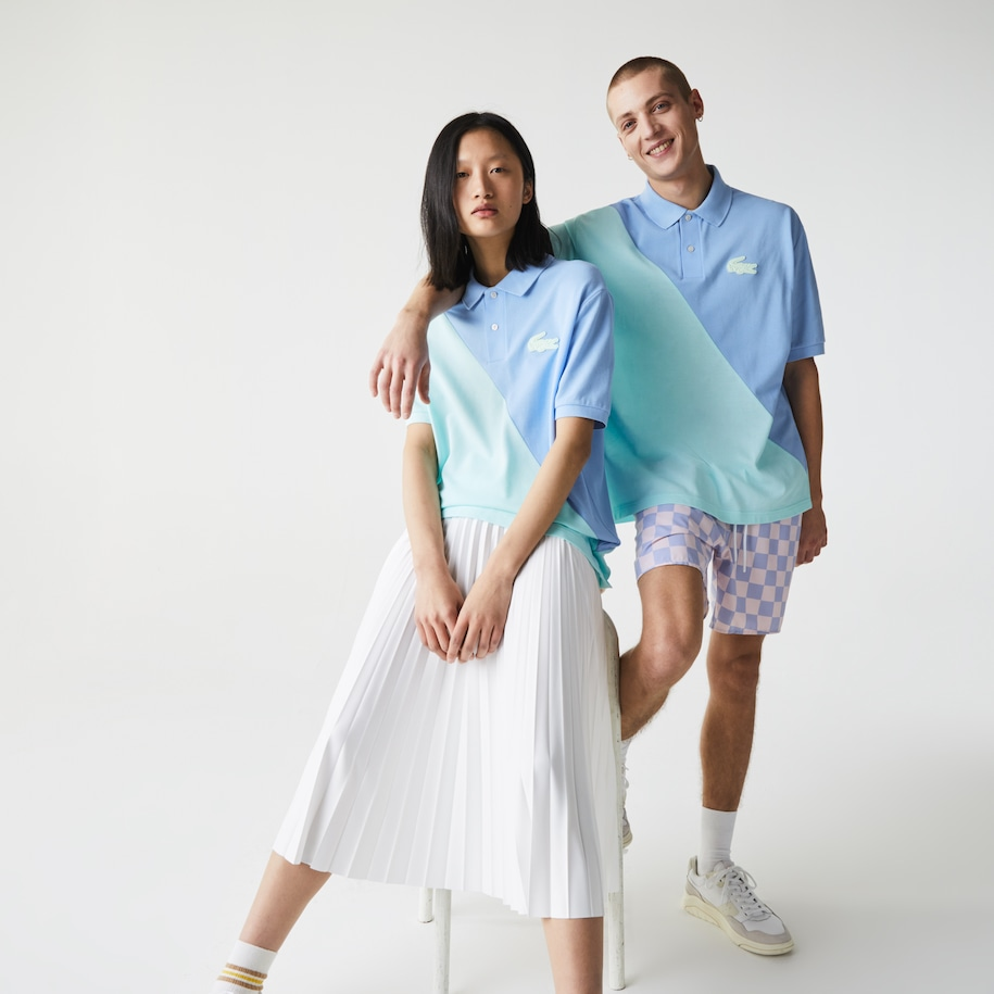 Unisex LIVE Loose Fit Colorblock Polo