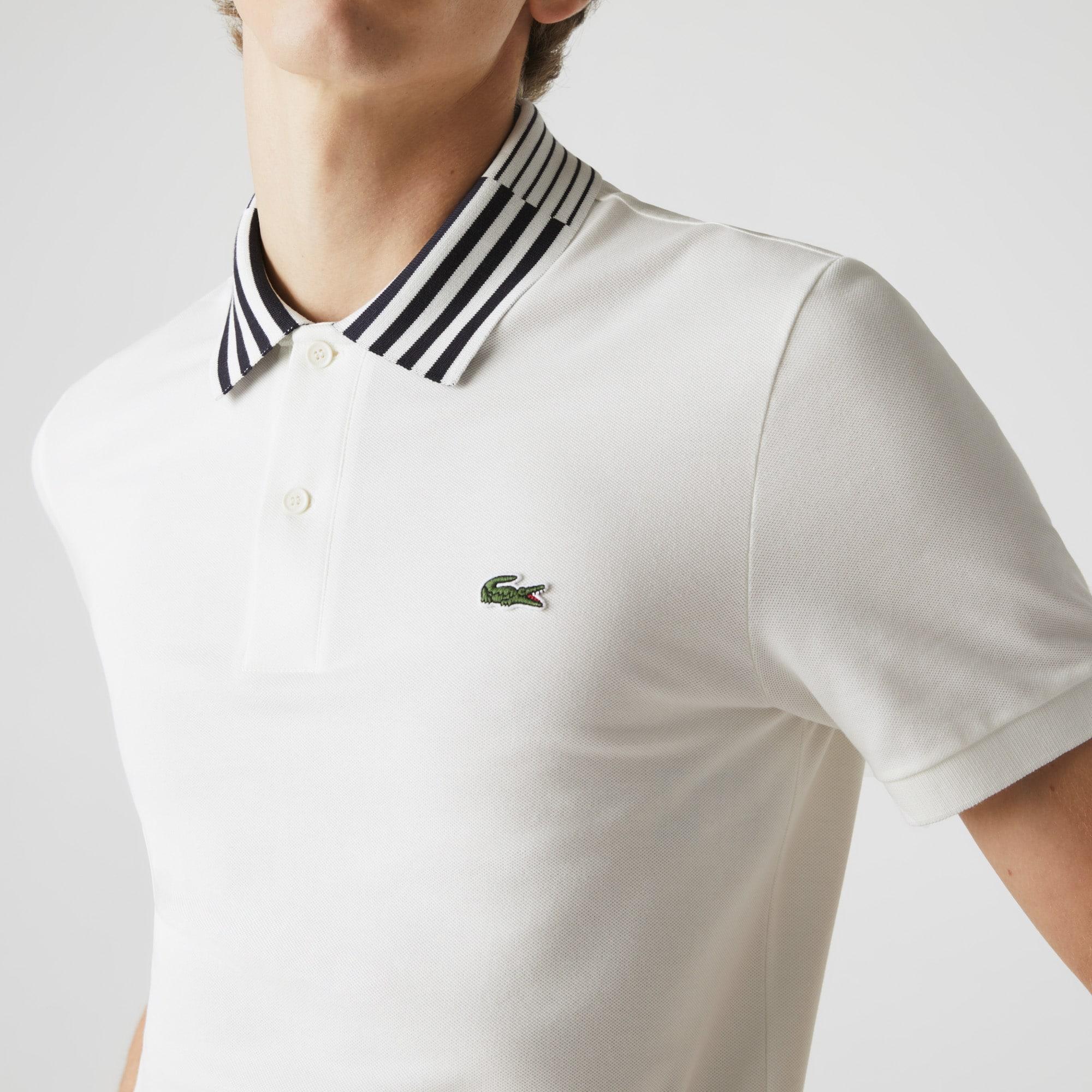 Men's Lacoste Slim Fit Stretch Piqué Heritage Polo