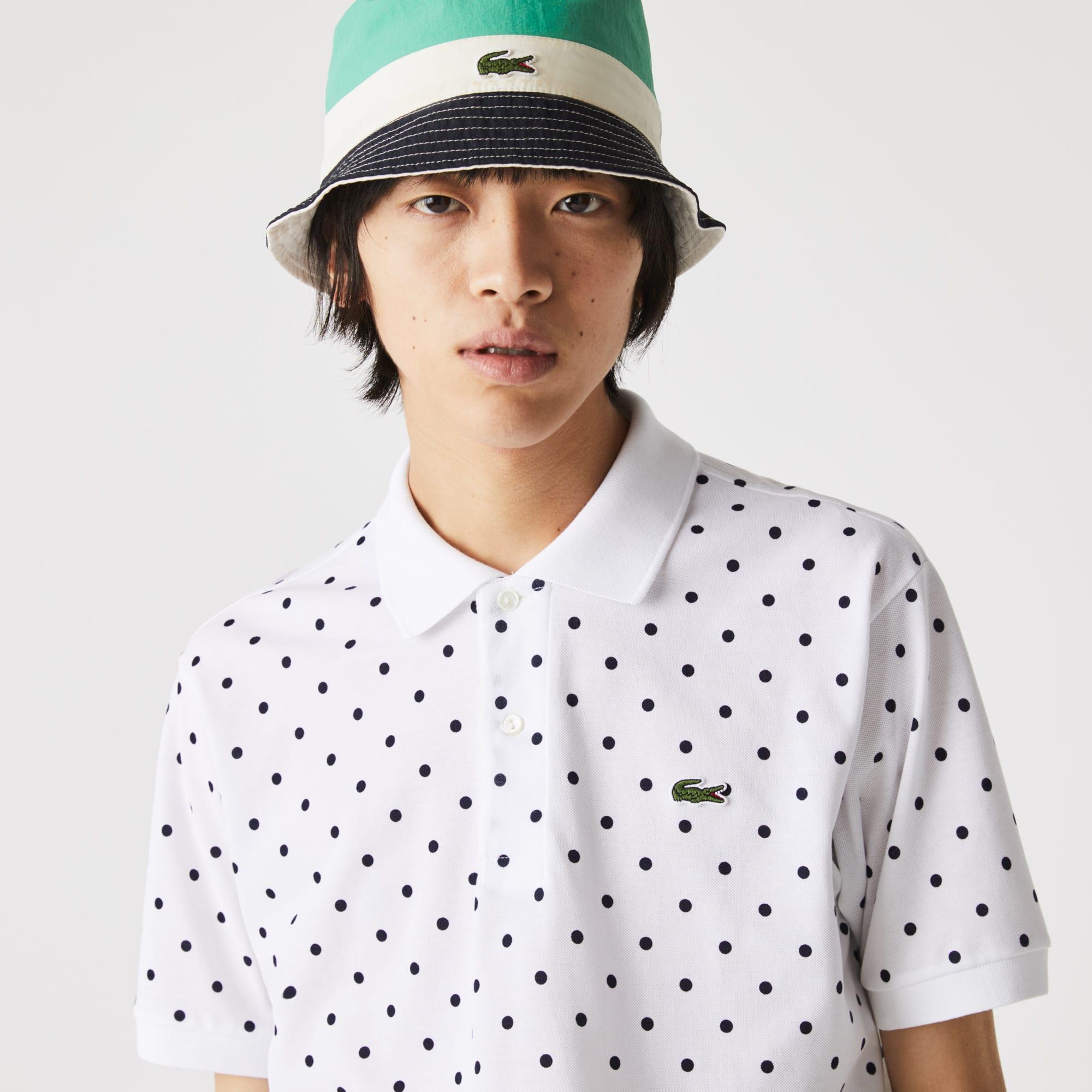 라코스테 맨 피케 폴로 (클래식 핏) Lacoste Men's Classic Fit Polka Dot Cotton Pique Polo