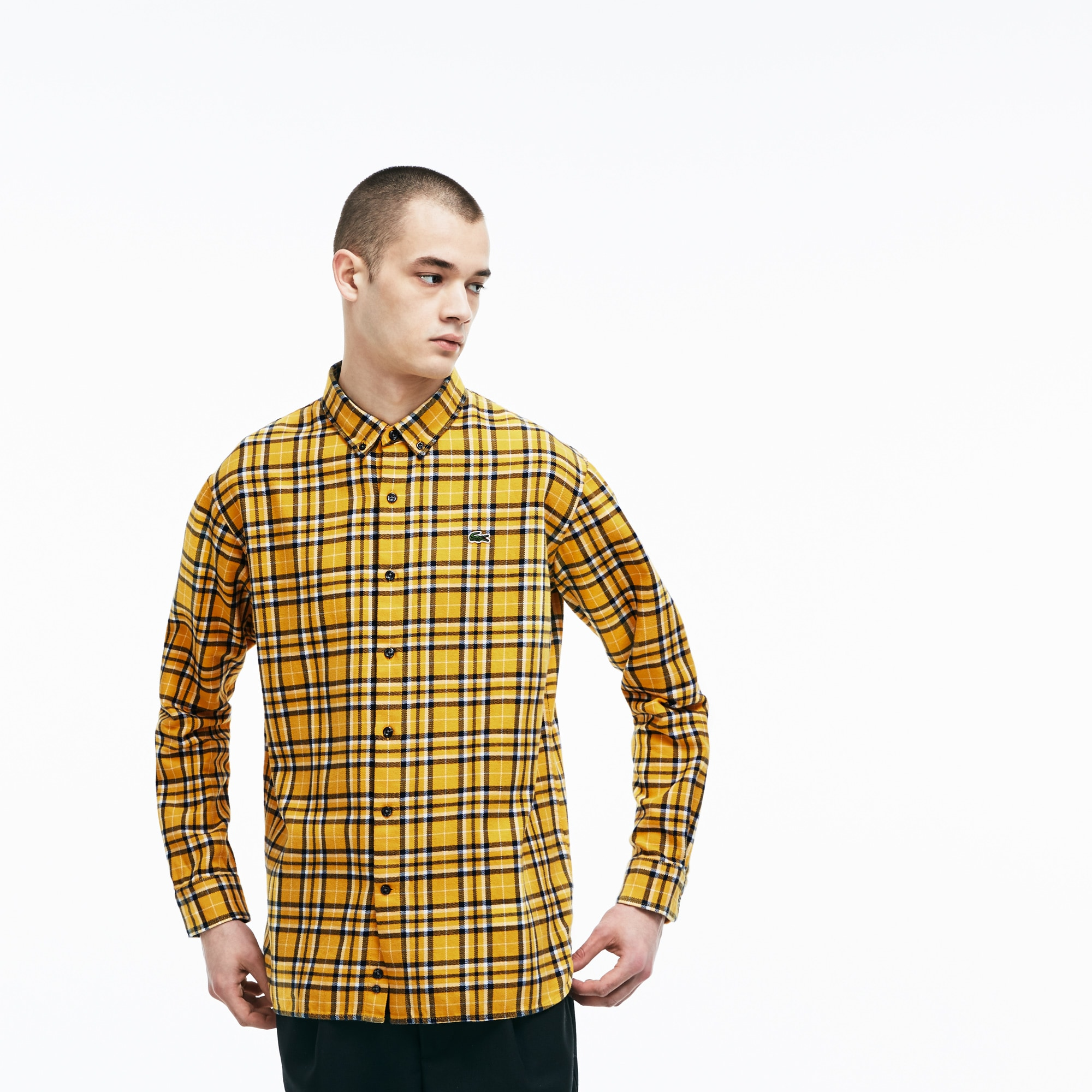 Men's LIVE Boxy Fit Check Cotton Flannel Shirt