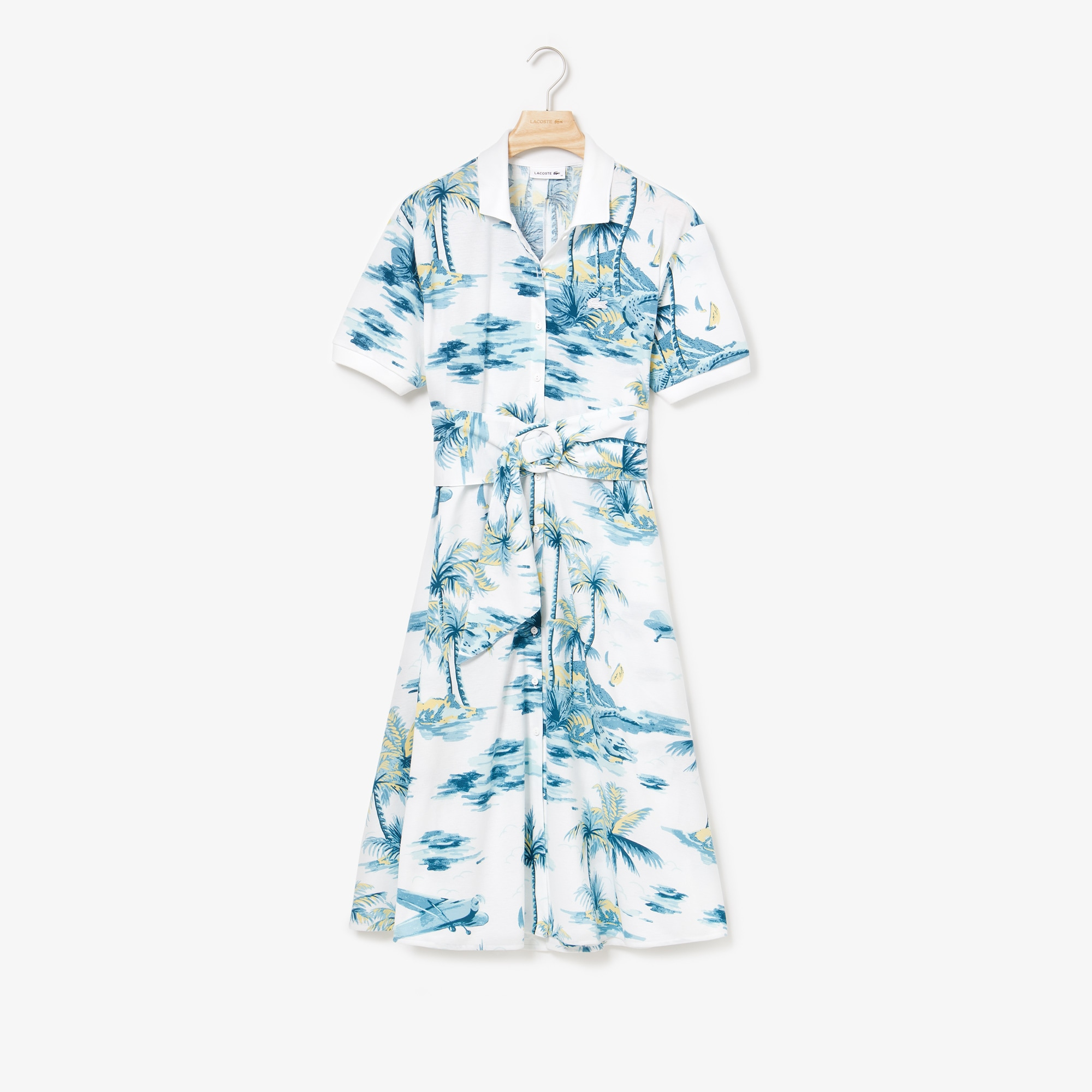 Women's Cotton Piqué Belted Dress