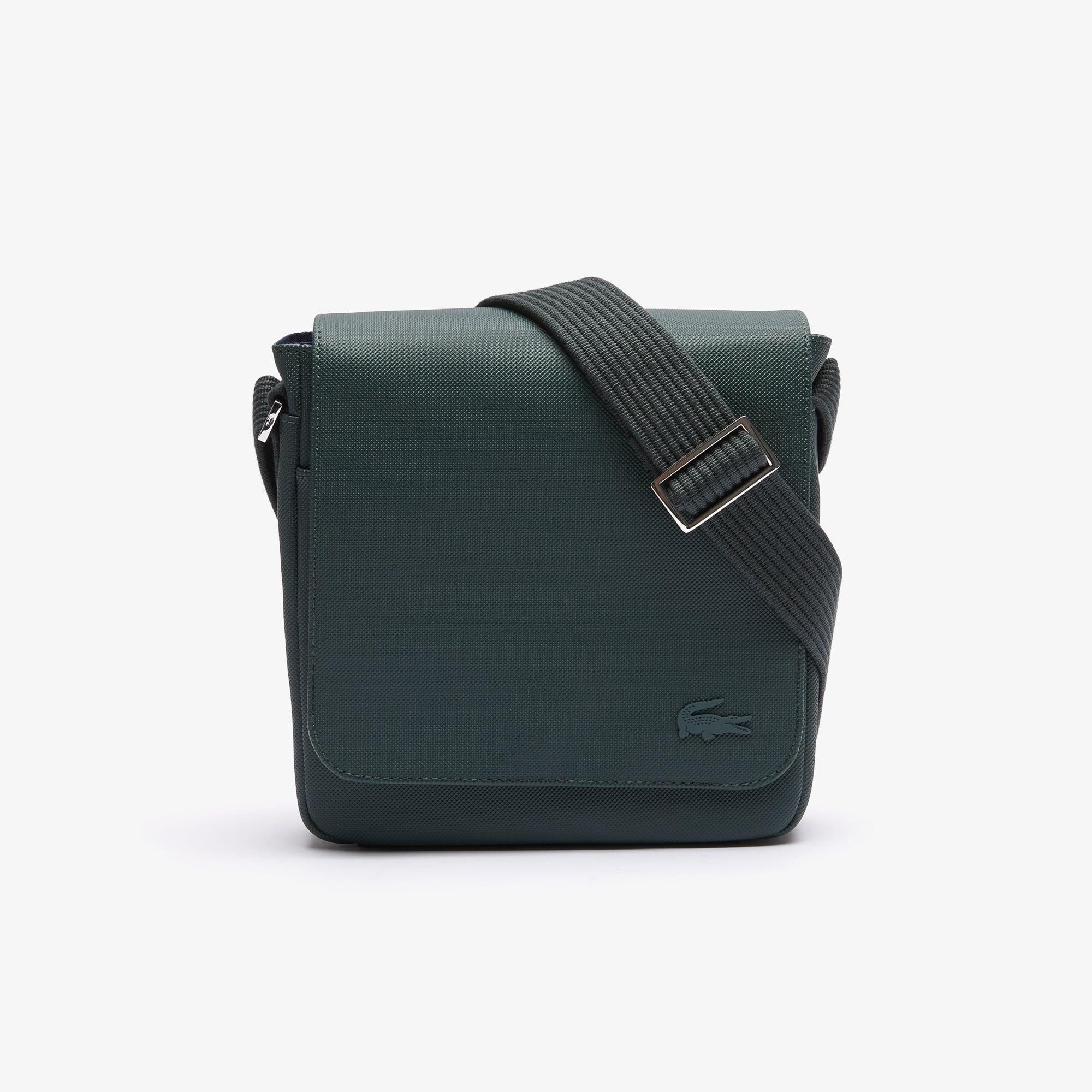 라코스테 메신저백 Lacoste Mens Classic Petit Pique Flap Bag,scarab