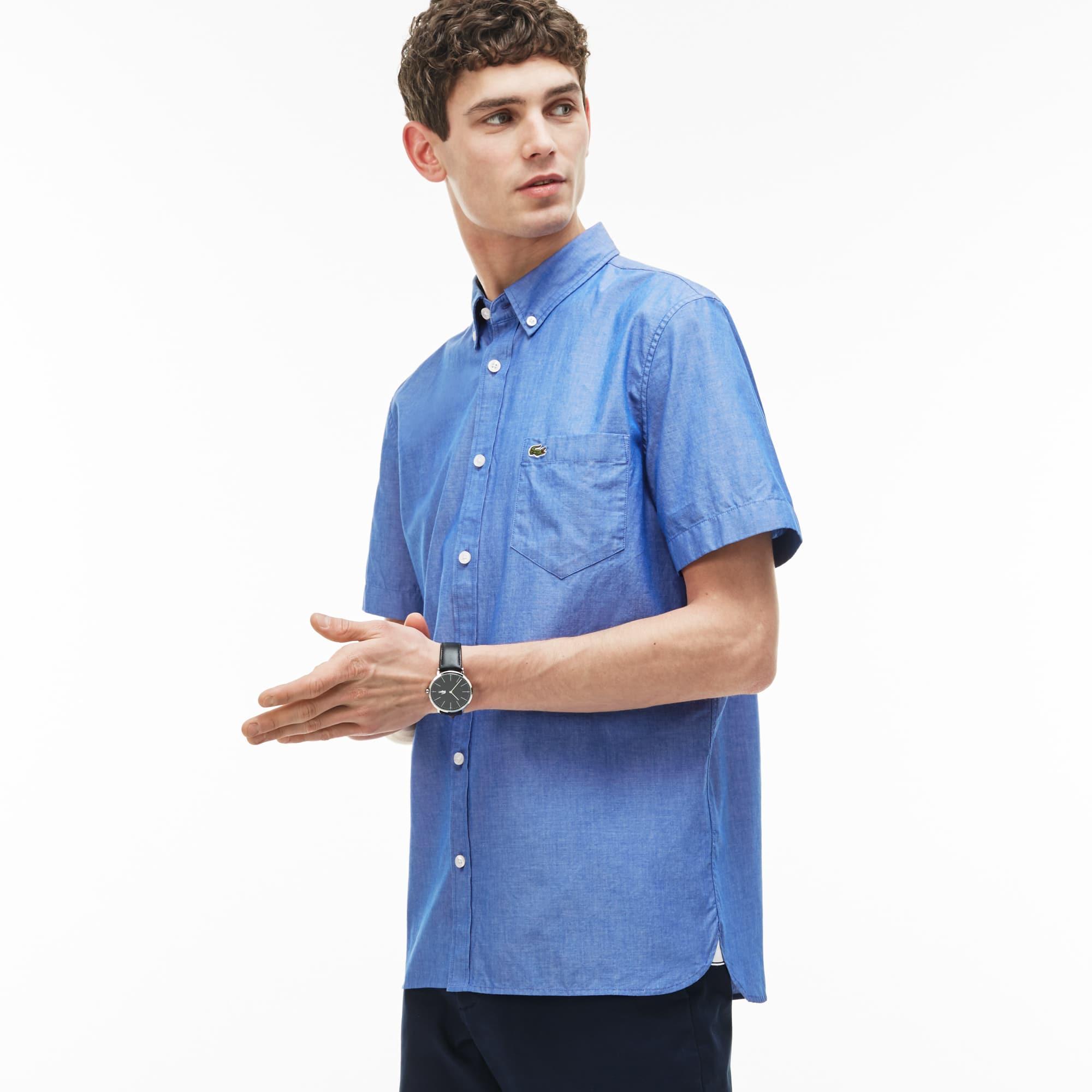 Men's Regular Fit Cotton Chambray Shirt
