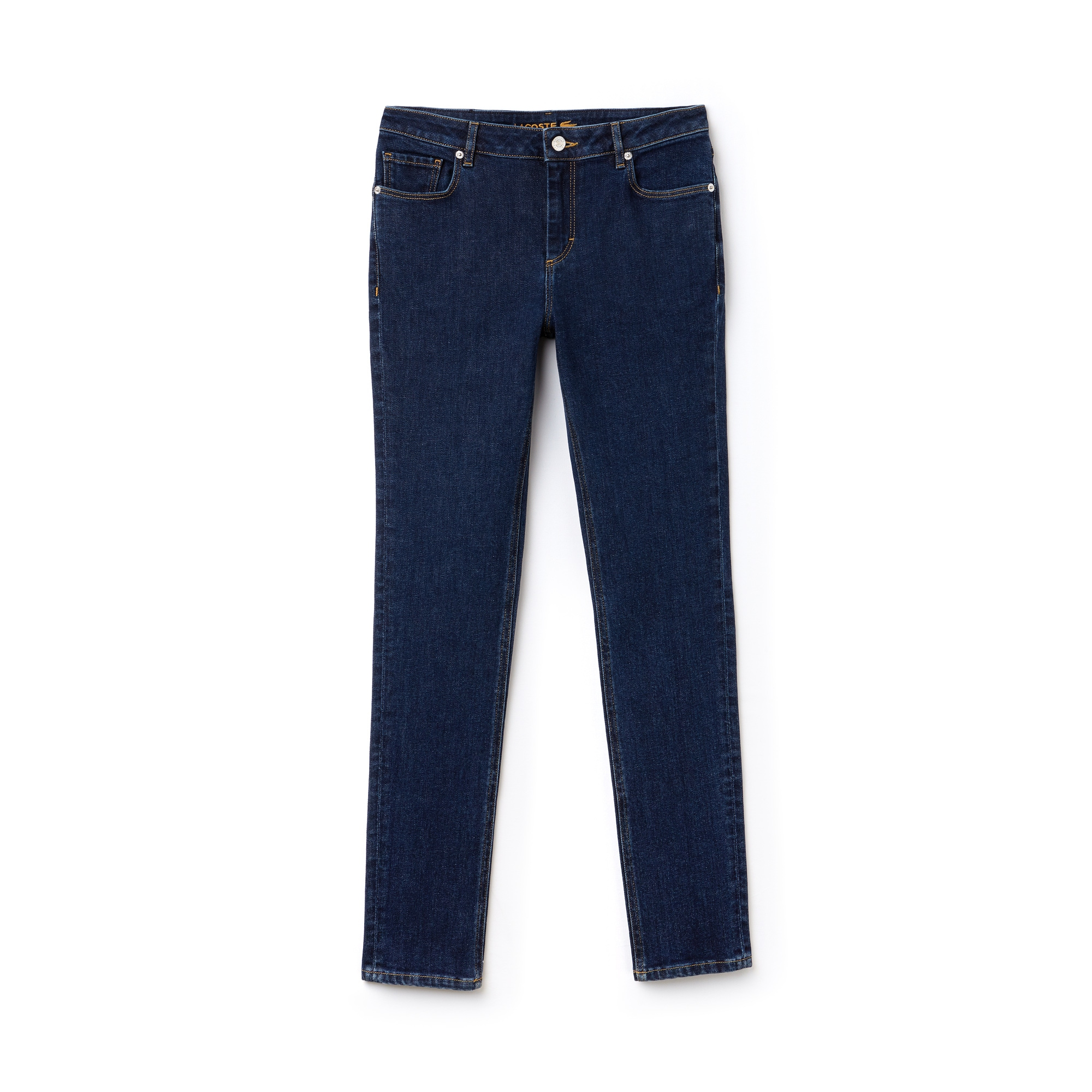 라코스테 Lacoste Womens Slim Fit Stretch Cotton Denim Jeans,blue chine