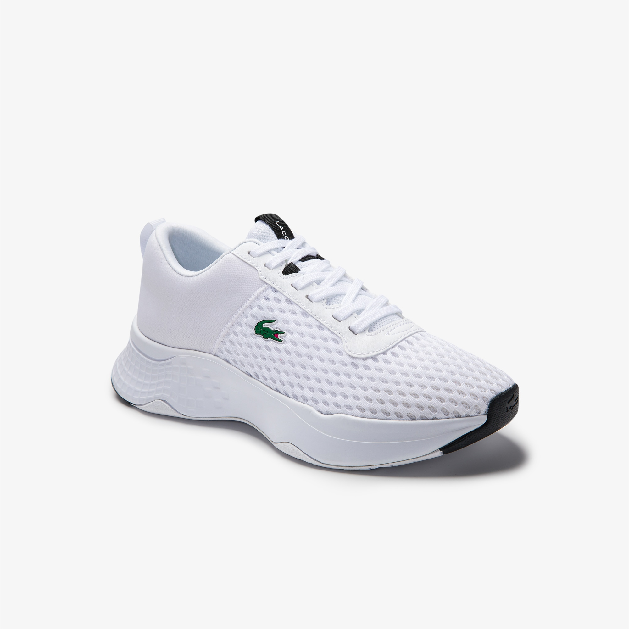 라코스테 키즈 주니어 스니커즈 Lacoste Juniors Court-Drive Mesh and Stretch-knit Trainers