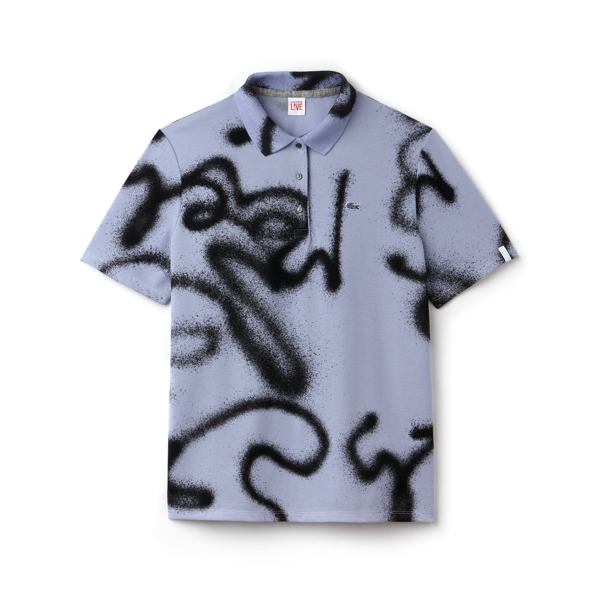 Women's LIVE Graffiti Print Cotton Mini Piqué Polo