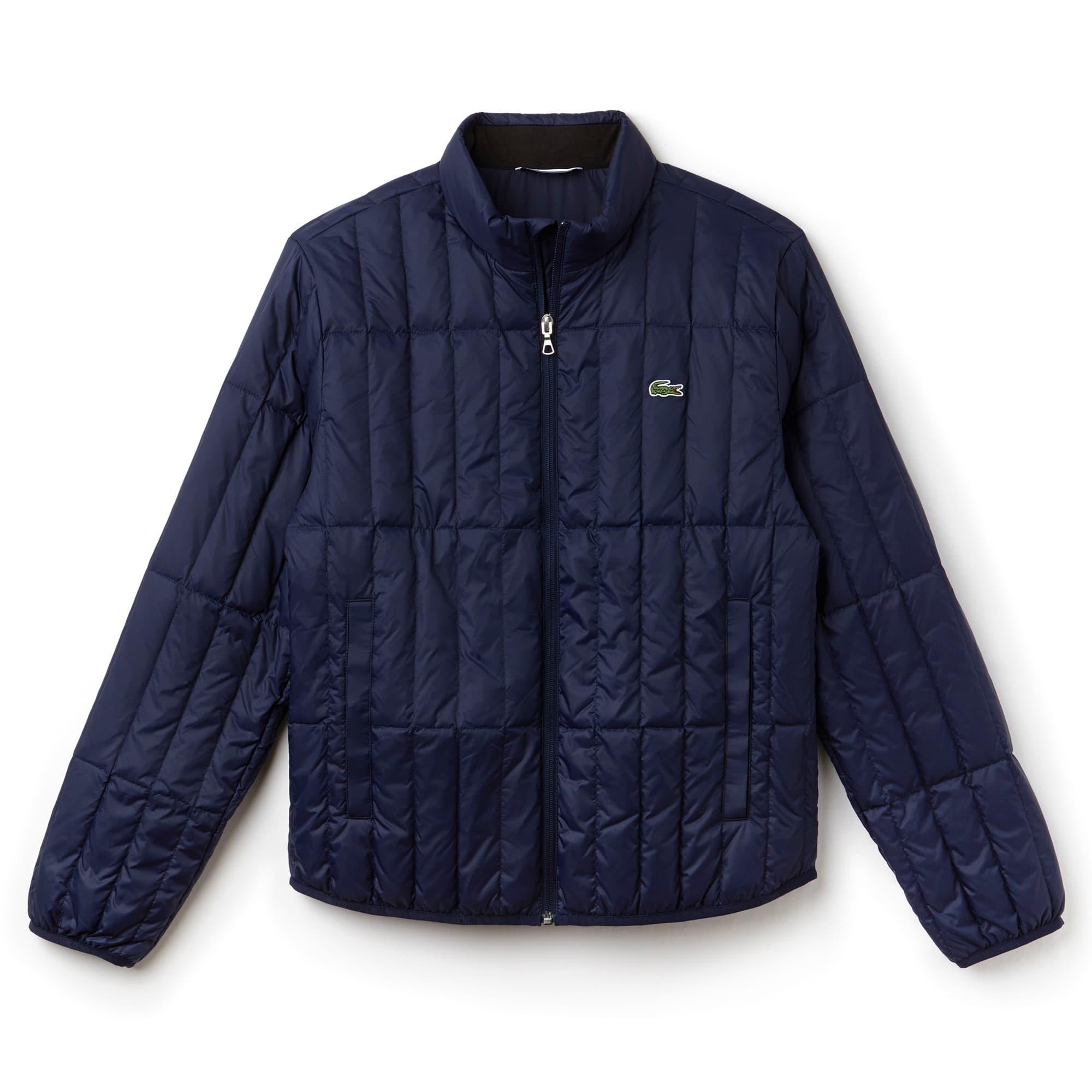 Men's Lightweight Built-in Hood Quilted Down Packable Jacket | LACOSTE : mens lightweight quilted jacket - Adamdwight.com