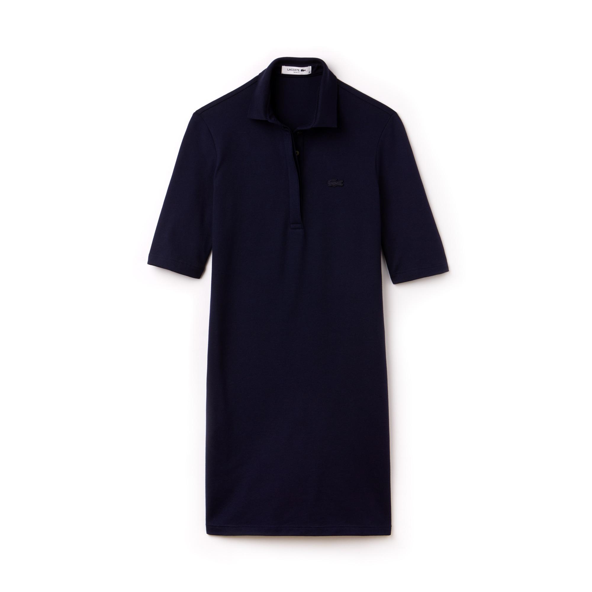 라코스테 슬림핏 피케 미니 폴로 원피스 네이비 블루 Lacoste Womens Slim Fit Stretch Mini Pique Polo Dress,navy blue