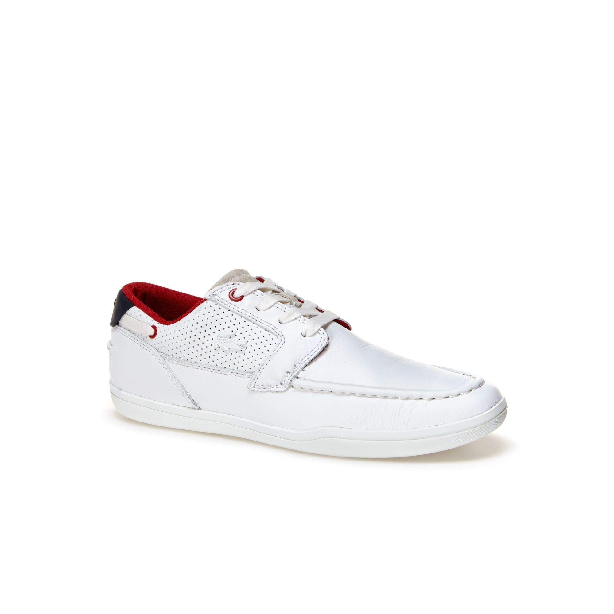 Men's Deck-Minimal Leather Sneakers