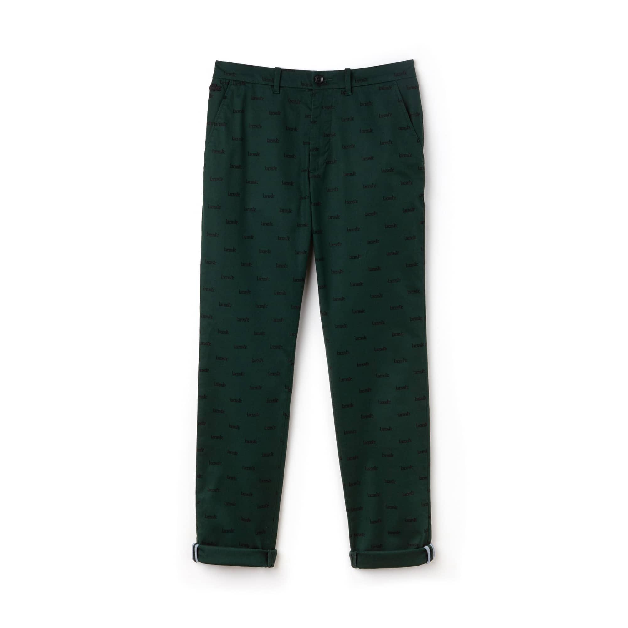 Men's LIVE Print Stretch Cotton Twill Chino Pants