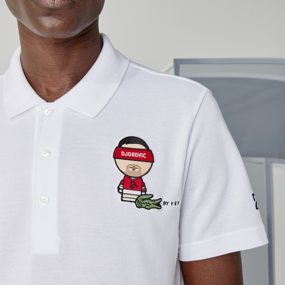 Men S Sport Collab Youssef Sy Cotton Pique Polo Shirt Lacoste