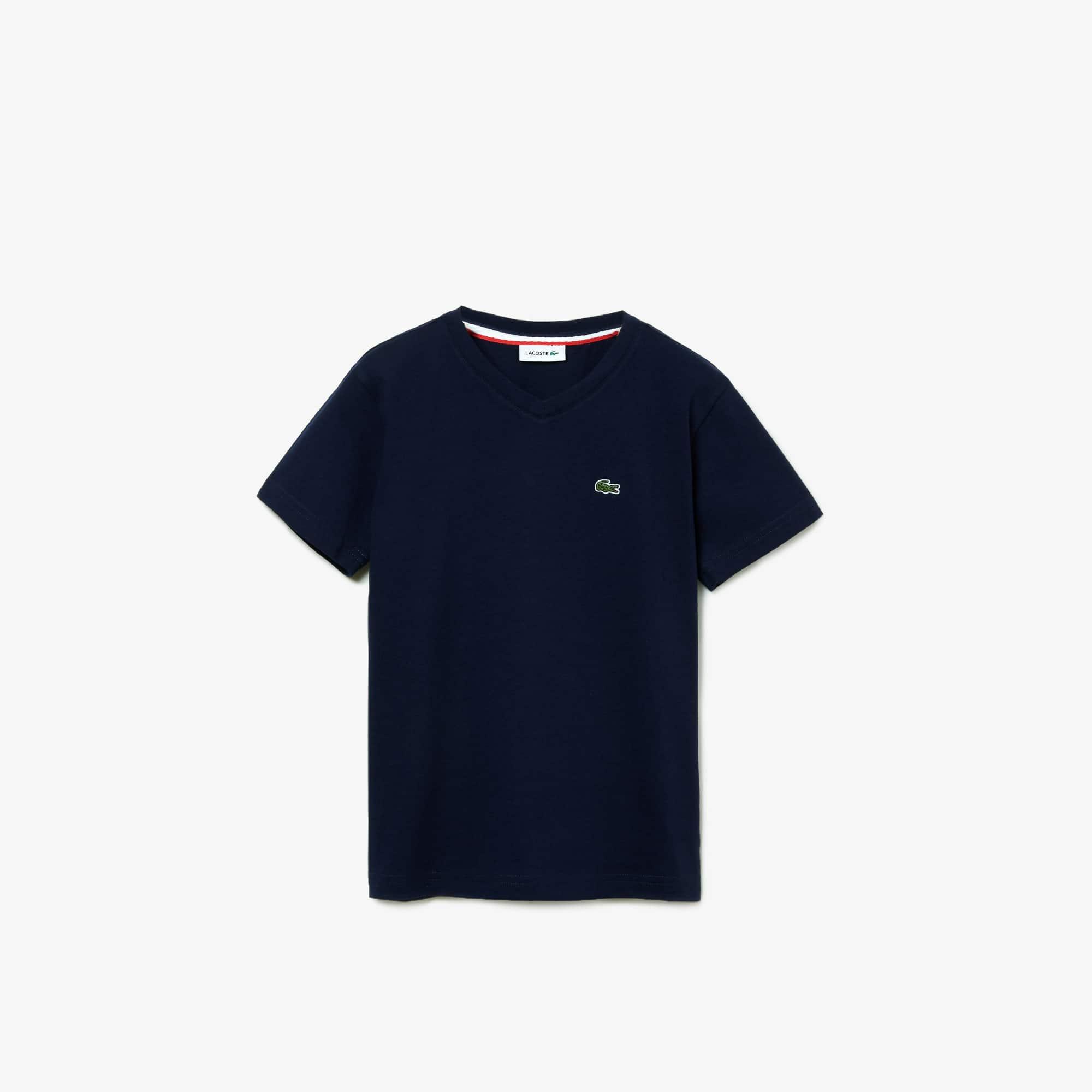 Boys' V-neck Cotton Jersey T-shirt