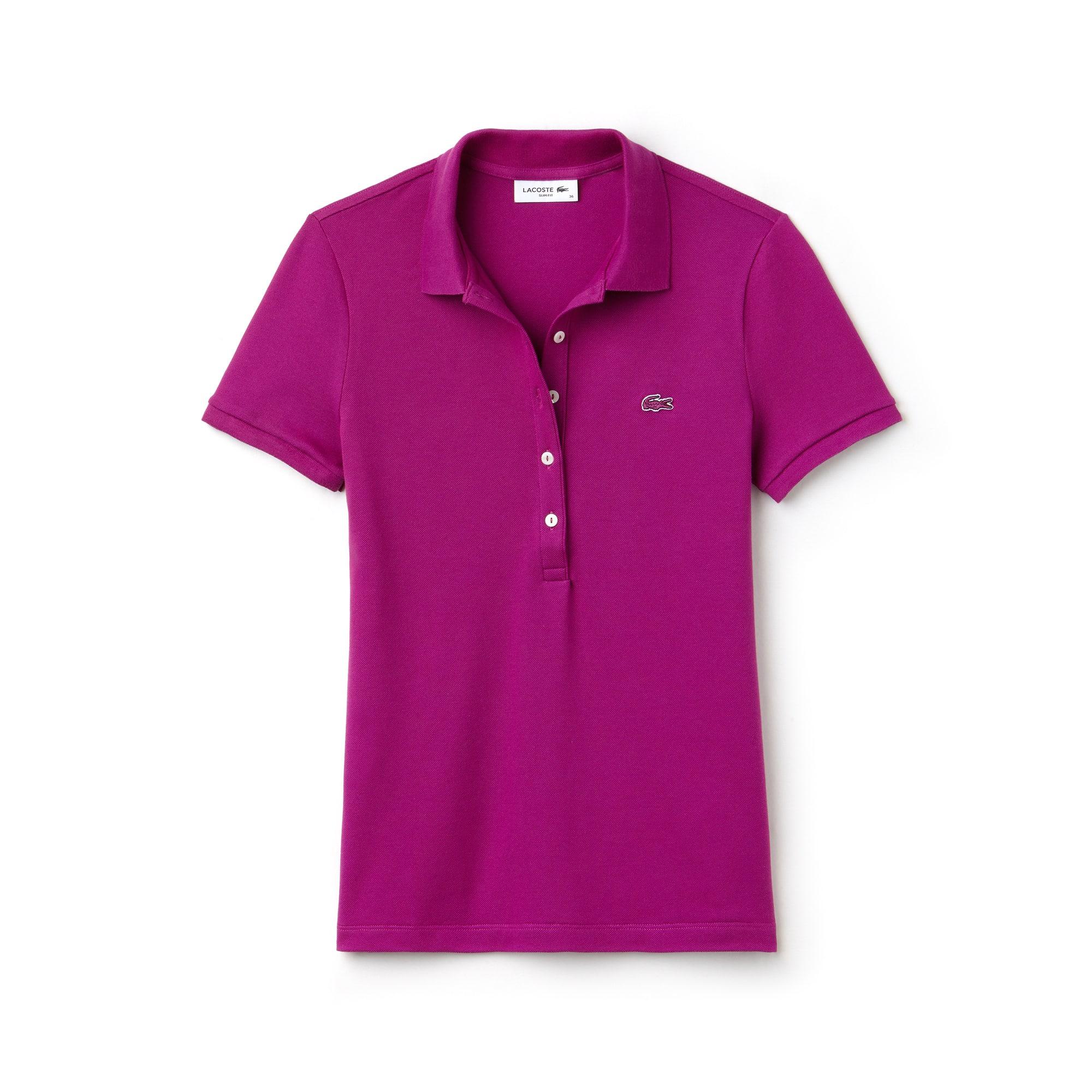 라코스테 반팔 카라티 Lacoste Womens Slim Fit Stretch Mini Cotton Pique Polo Shirt,cardinal red