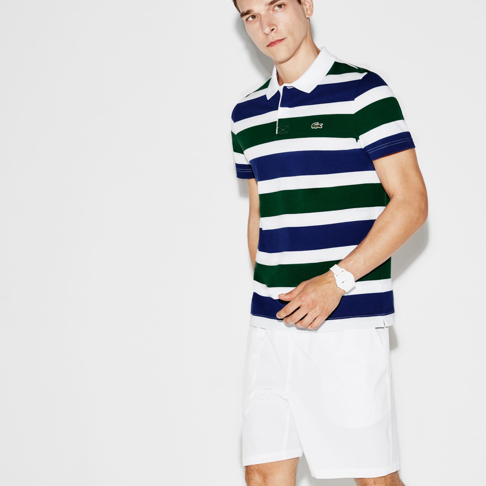 Men's SPORT Tennis Ultra-Light Striped Knit Polo