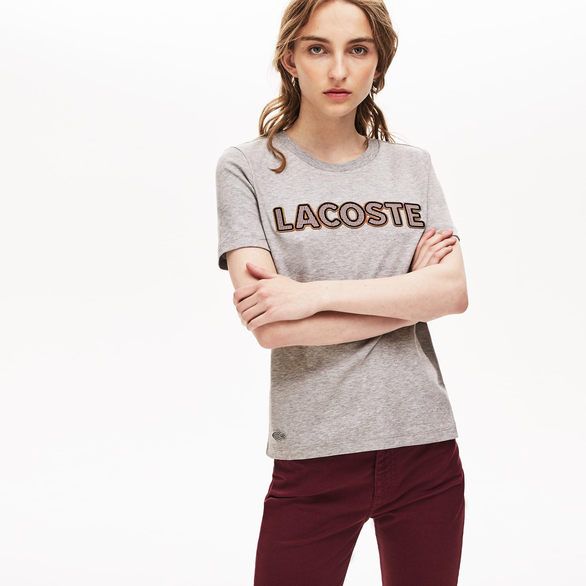 Lacoste Tops Women's Crewneck Lightweight Cotton T-shirt