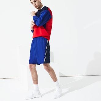 라코스테 스포츠 트레이닝복 하의 Lacoste Mens SPORT Logo Two-Tone Shorts,Navy Blue / Navy Blue / White