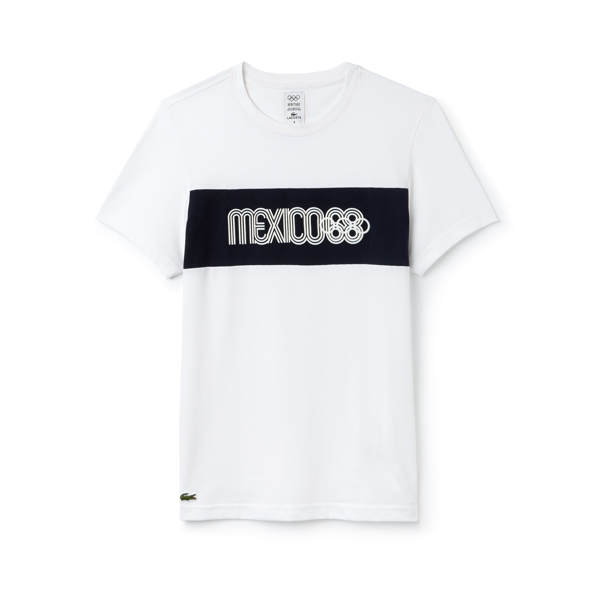 T-shirt col rond Olympic Heritage Collection by Lacoste en coton