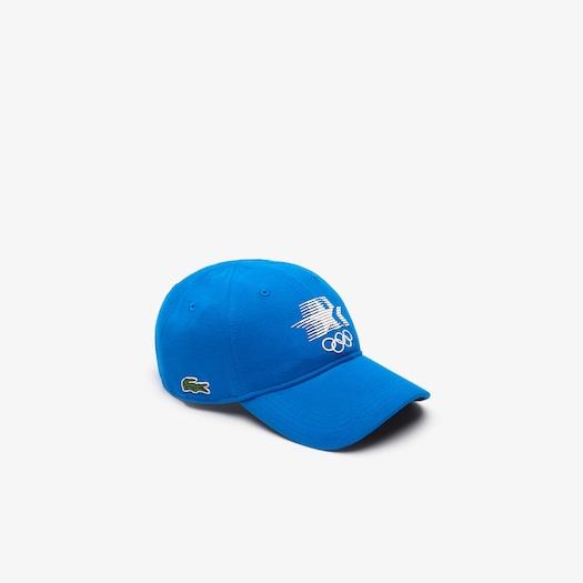 라코스테 Lacoste Mens Olympic Heritage Collection Cotton Cap,Blue / Navy Blue / White - 70L