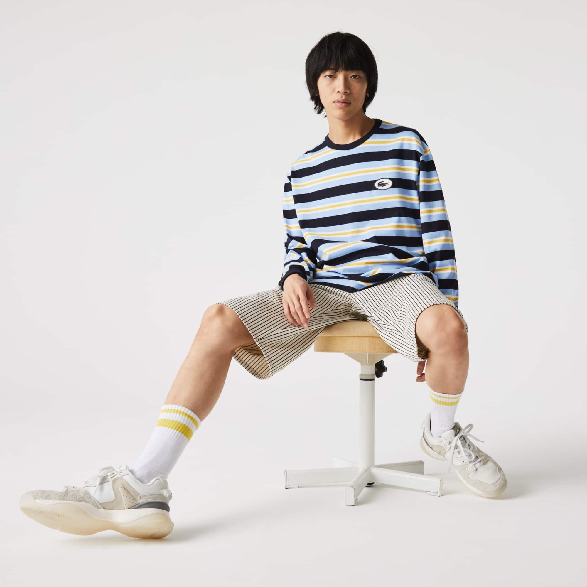 라코스테 Lacoste Men's Heritage Relaxed Striped Cotton T-shirt