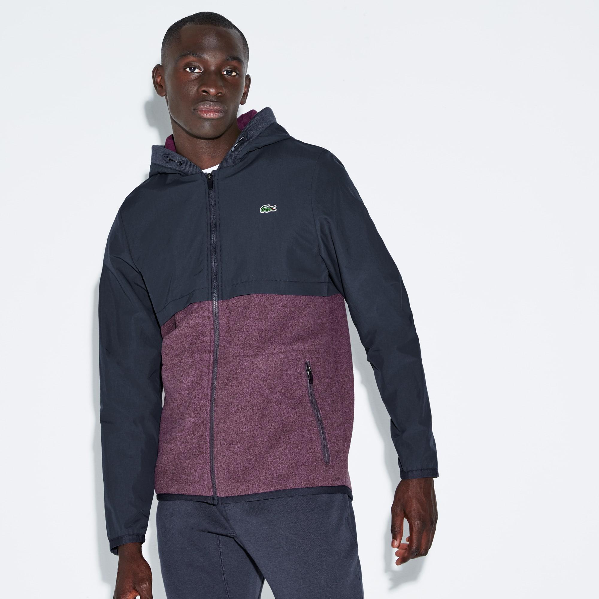 Men's SPORT Hooded Bi-Material Tennis Jacket