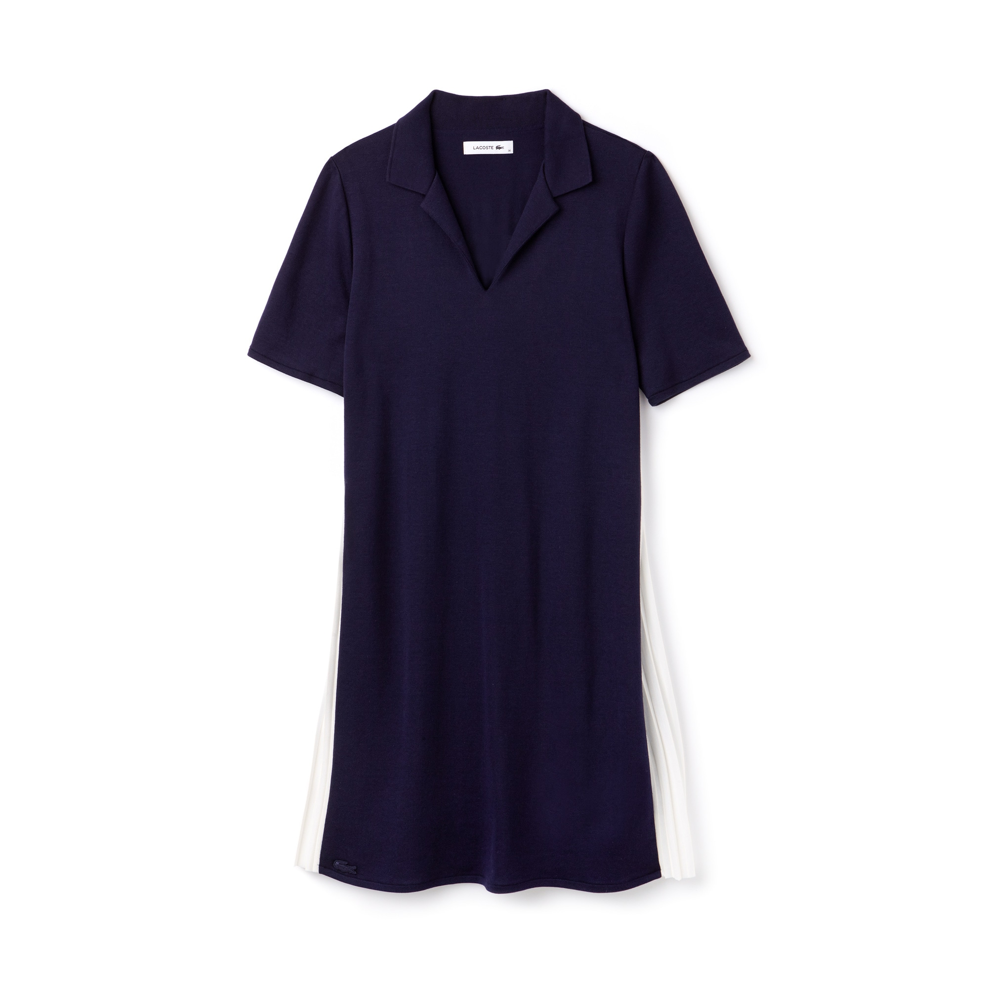 Women's Pleated Panel Piqué Polo Dress
