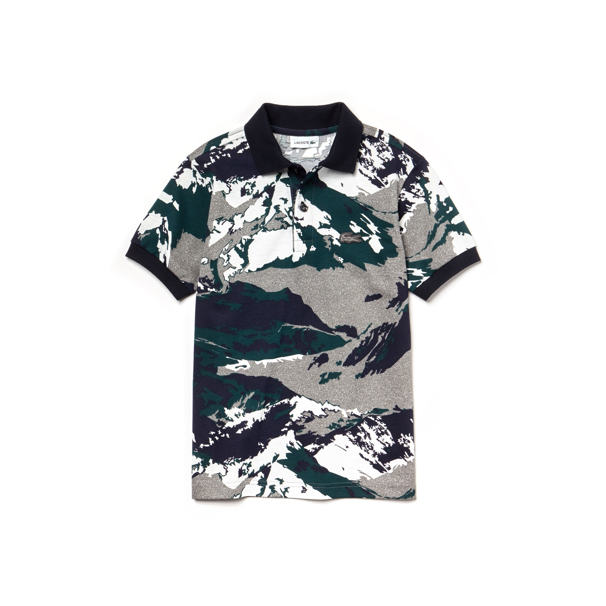 Boys' Print Cotton Mini Piqué Polo
