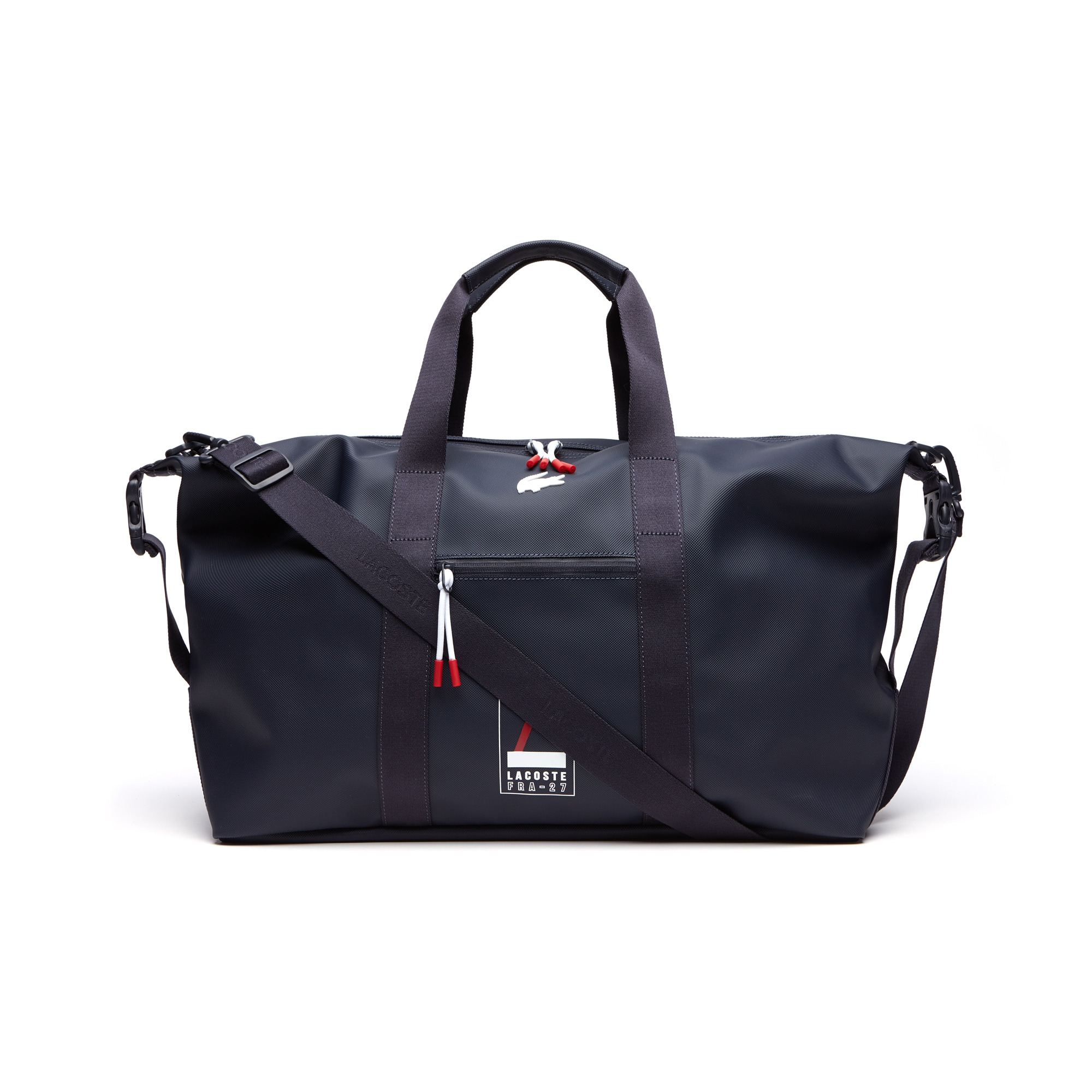 Men's L.12.12 Concept Lettering Petit Piqué Weekend Bag