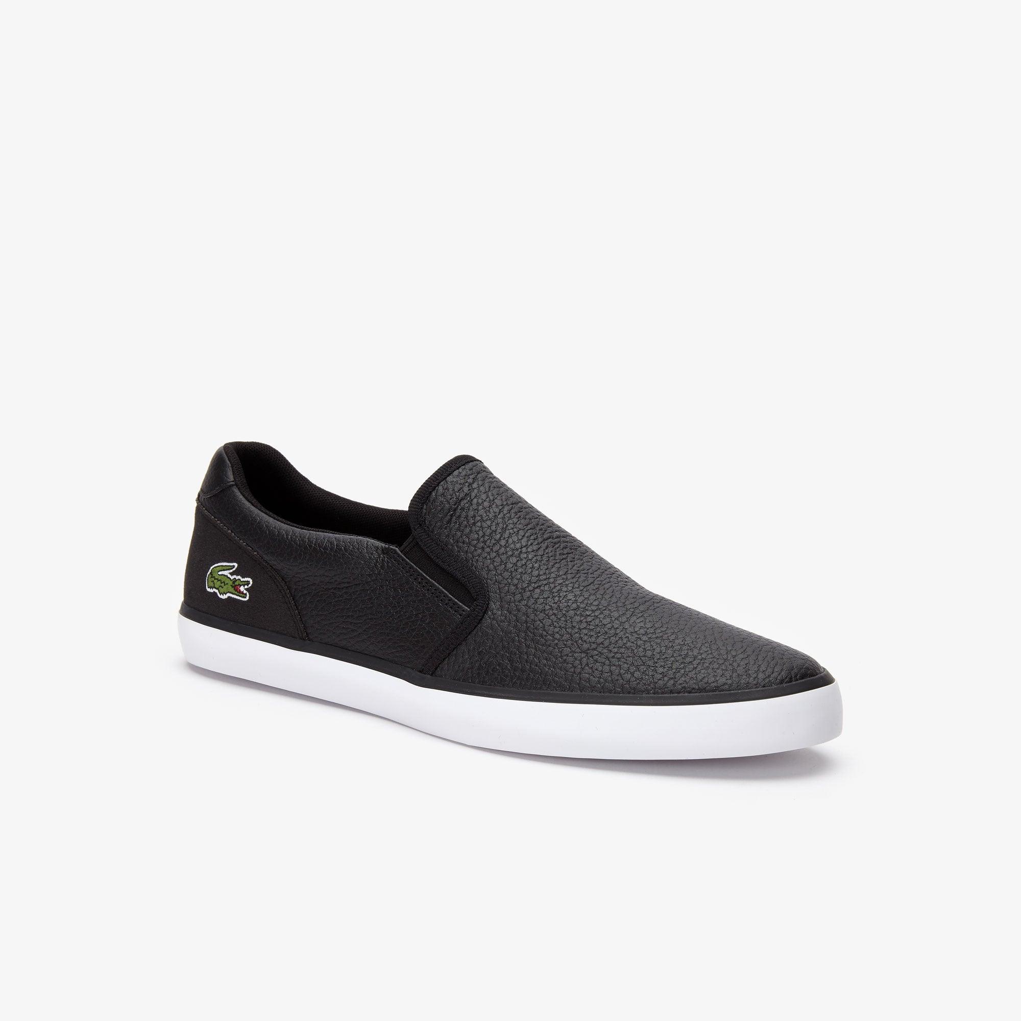 Jouer Leather Slip-On Sneakers   LACOSTE