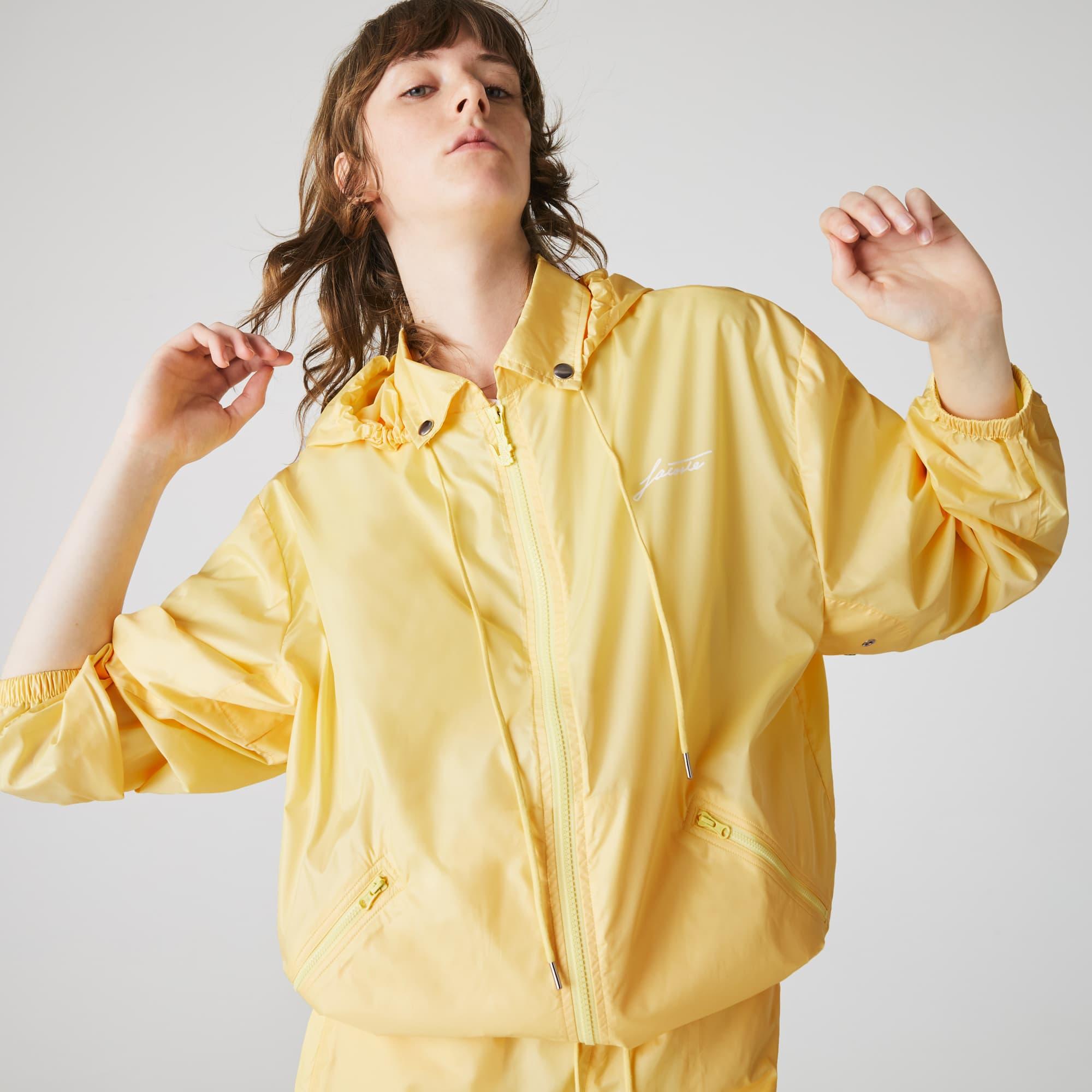 Womens Lacoste LIVE Lightweight Collapsible Zip Rain Jacket